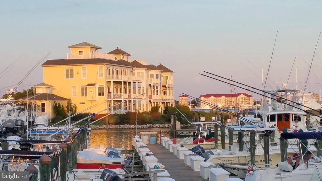 MUST SEE! Gorgeous Coastal Estate home. Finest Luxury Living-Waterfront expansive coastal home & boat slip for discriminating owner who loves to entertain & wants to live coastal marina lifestyle. 5 bedrooms, den/office & library each w/windows or own balcony overseeing Ocean City/bay/inlet/marshes/docks set stage for amazing views, sunsets, watching boats/yachts. 1st floor guest quarters:4 bed, 3 baths, den, Capt Galley & laundry.Take staircase or elevator up to upgraded kitchen & incredible open-concept great-room w/dining room, sitting area, living room & bar, powder room & laundry w/storage. 2nd floor:master suite w/sitting areas, dressing lounge, gorgeous bath, library w/powder room. Top floor-Crow's Nest overlooking deep water slip. 2-car garage w/storage. Perfect for anglers, marine & beach enthusiasts. Home Warranty Incl. New windows installed throughout! Slip #13 conveys. Schedule private showing today.