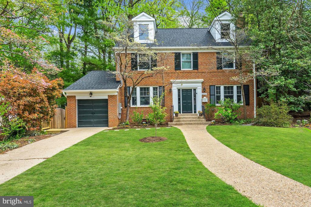 Totally renovated, stunning 6BR/4.5BA/4 level/1-car garage brick colonial home in Foxhall/Berkeley, beautifully situated on a huge private lot on one of DC's most desirable, quiet cul-de-sacs. The amazing, large and very private backyard is exceptional, without parallel, and backs to the wooded portion of the GW Mount Vernon campus!! The home was completely renovated in 2017 with magnificent textures and finishes, stunning bead-boarding, gorgeous custom cabinetry, new Anderson windows, new roof, renovated/expanded bathrooms, unbelievable storage on all four levels (closets and built-ins added throughout), and ample living spaces. Everything from the major systems to the finest details has been upgraded and improved while preserving the charm and character of the original house. 4739 Berkeley Terrace is truly a rare find - it is a brand new home within the shell of an original colonial. The gourmet kitchen has been exquisitely renovated with stone walls, stainless steel Samsung appliances, beautiful fixtures, crisp cabinetry, an oversized farmhouse copper sink, and plenty of counter space to prepare meals. Entertaining will be a breeze with the open flow encompassing the expansive granite island, dining area, two living rooms, sunroom and lovely sliding glass doors leading to a deck and scenic yard which serves as your own private retreat from the bustle of the big city. The upper levels feature 5 bedrooms and 3 full baths with generous sized rooms, each boasting custom built~ins, wood blinds, and lots of natural light. The completely finished lower level includes a living room/exercise room, legal bedroom, kitchenette, full bath, walk-in wine cellar with 96 bottle built-in rack, a private entry including a secondary side deck, and a dedicated storage room with hundreds of square feet of space! Beyond being located on one of DC~s finest quiet cul-de-sacs, the property is one of a few homes that backs directly to the wooded area of GW~s Mount Vernon campus, offering incredible privacy and seclusion! GW/Mount Vernon encourages neighborhood access (and issues fobs); further there is a neighbor pool and tennis club at GW that neighbors can join for a small fee. Walking distance to many things! Foxhall/Berkley community residents value the picturesque, secluded escape from the city and neighborhood small-town amenities, including the following which are all walking distance to the home: shops, restaurants, library, supermarket, pharmacy, and parks. Additionally there are several schools and places of worship that are a close walk as well. 4739 Berkeley Terrace offers the best of it all, including the conveniences and easy commuting routes to Georgetown, Dupont, and K Street NW. Property has cameras with audio on the exterior of the home. Property shown by appointment only with the listing agent present and the seller has the right to attend all showings.