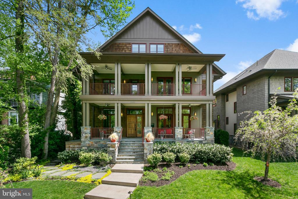 Built in 2014, this recently built residence is located at the end of a quiet two block street, overlooking the C&O canal with seasonal Potomac River views. Spanning over 6,000 square feet, the home boasts high ceilings, generous room sizes, an elevator to three levels, 2-car garage, two porches spanning the width of the house, and rear garden. The chef's grade kitchen opens to the family room with a fireplace, and there is a dining terrace off of the formal dining room. In addition to the sumptuous master suite, there are 5 more bedrooms and 4 baths on the upper levels and an in-law bedroom and bath on the lower level. There is Sonos, Lutron lighting, and 3-zone HVAC controlled by a SmartTouch system. Walking distance to Palisades shops and restaurants and minutes to downtown.