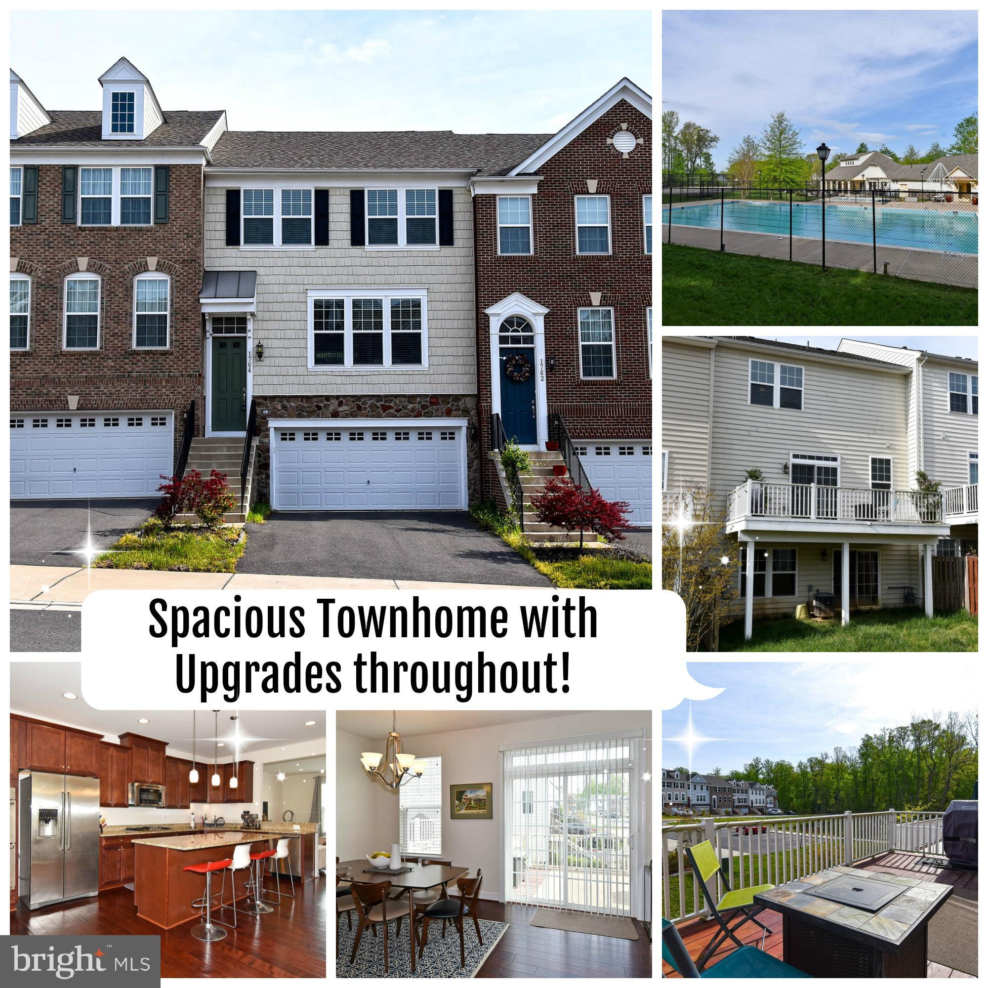 Beautiful, light and bright, almost new, 3 Level Townhouse with 2 car garage, located in the amenity filled Powells Landing Community. The home features, 3 Bedrooms, 2 Full Bathrooms, 2 Half Bathrooms, Gourmet Kitchen with Large Kitchen Island, Granite Counter Tops, Stainless Steel Appliances, Double Wall Oven, Upgraded Hardwood Floors, Large Walk-out Basement, Deck, Laundry Room on Upper Level. If you are looking to move to the Powells Landing neighborhood this is your chance. Don't miss out.