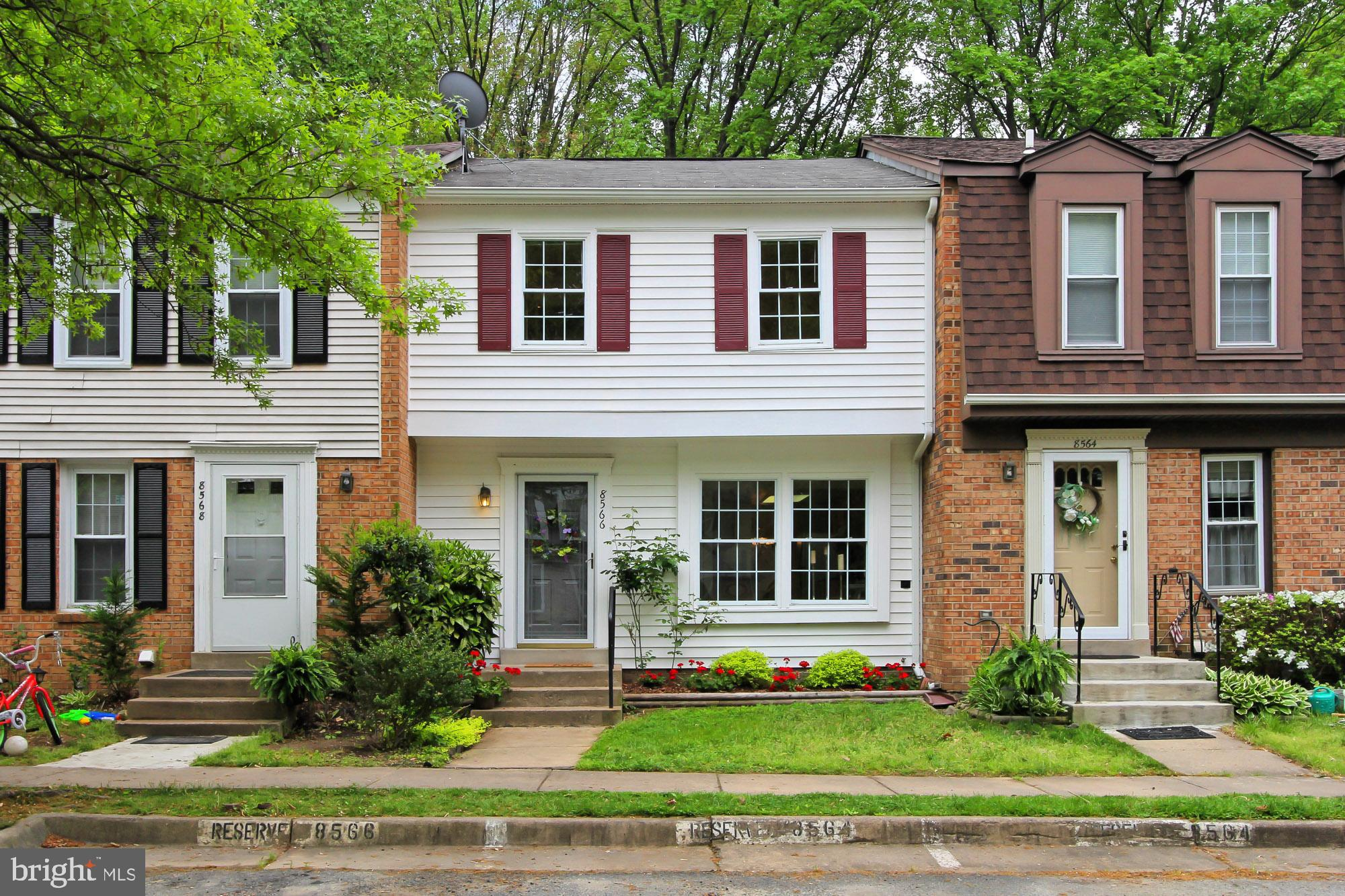 CONTRACT FELL THROUGH, BACK ON MARKET! Three bed two bath TH backs to trees.  Hardwood floors on main and upper levels! Nice large Master bedroom! Kitchen with newer cabinets, granite countertop and big picture window with table space.  Huge basement room with large storage room walks out to fenced back yard, where the gate leads to the forest, paths anb playground.  West Springfield High School