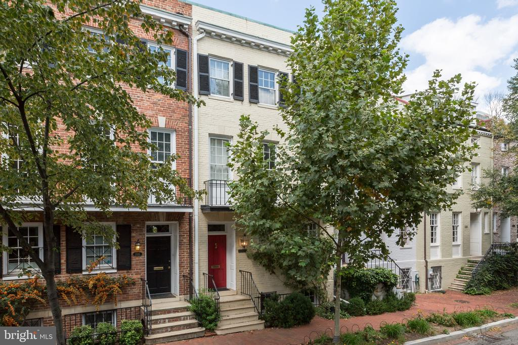 Please email  Shannon Stichman sstichman@ttrsir.com to schedule showing. Row Home on Reservoir Road offers 3 spacious bedrooms and 3 and ~ Bathrooms plus a secluded stone patio backyard and detached garage for 1 car. The home features hardwood floors throughout, 2 fireplaces and en suite bathrooms for each bedroom. This spacious home features an interior skylight for sunlight throughout the residence. The location on Reservoir is steps to Wisconsin Avenue and Volta Park.  Pets on a case by case basis.