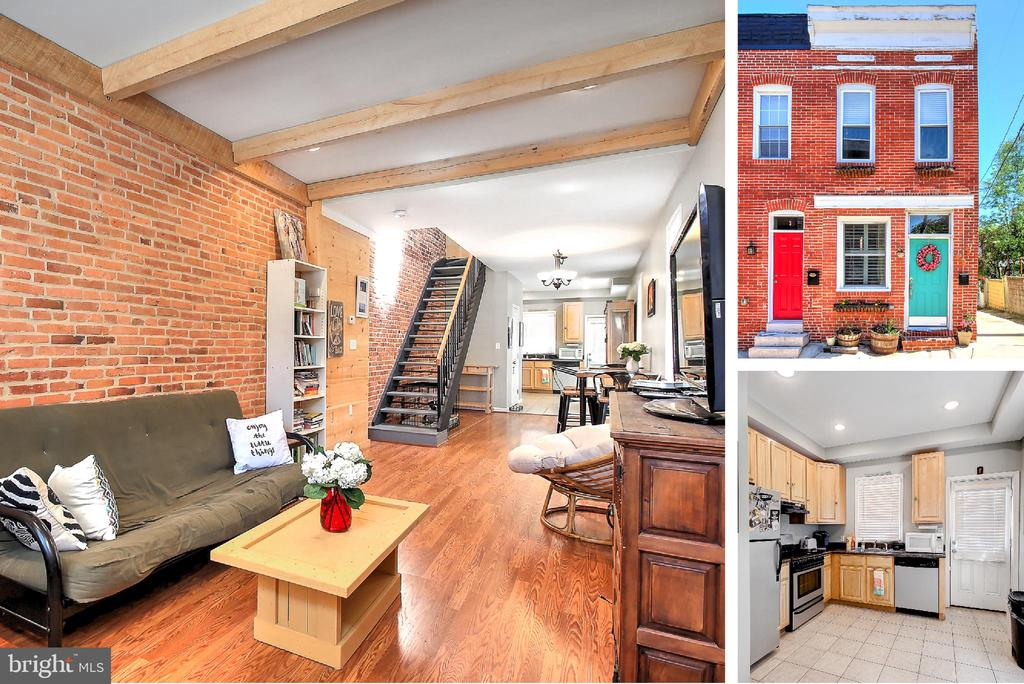 Urban chic Patterson Park end unit with parking! 2 bedrooms, 2 fulls baths upstairs, exposed brick, hardwood floors, open floor layout and much more! Steps from the park this ideally located home has everything you are looking for in city living. Priced to sell quickly, make an appointment today!