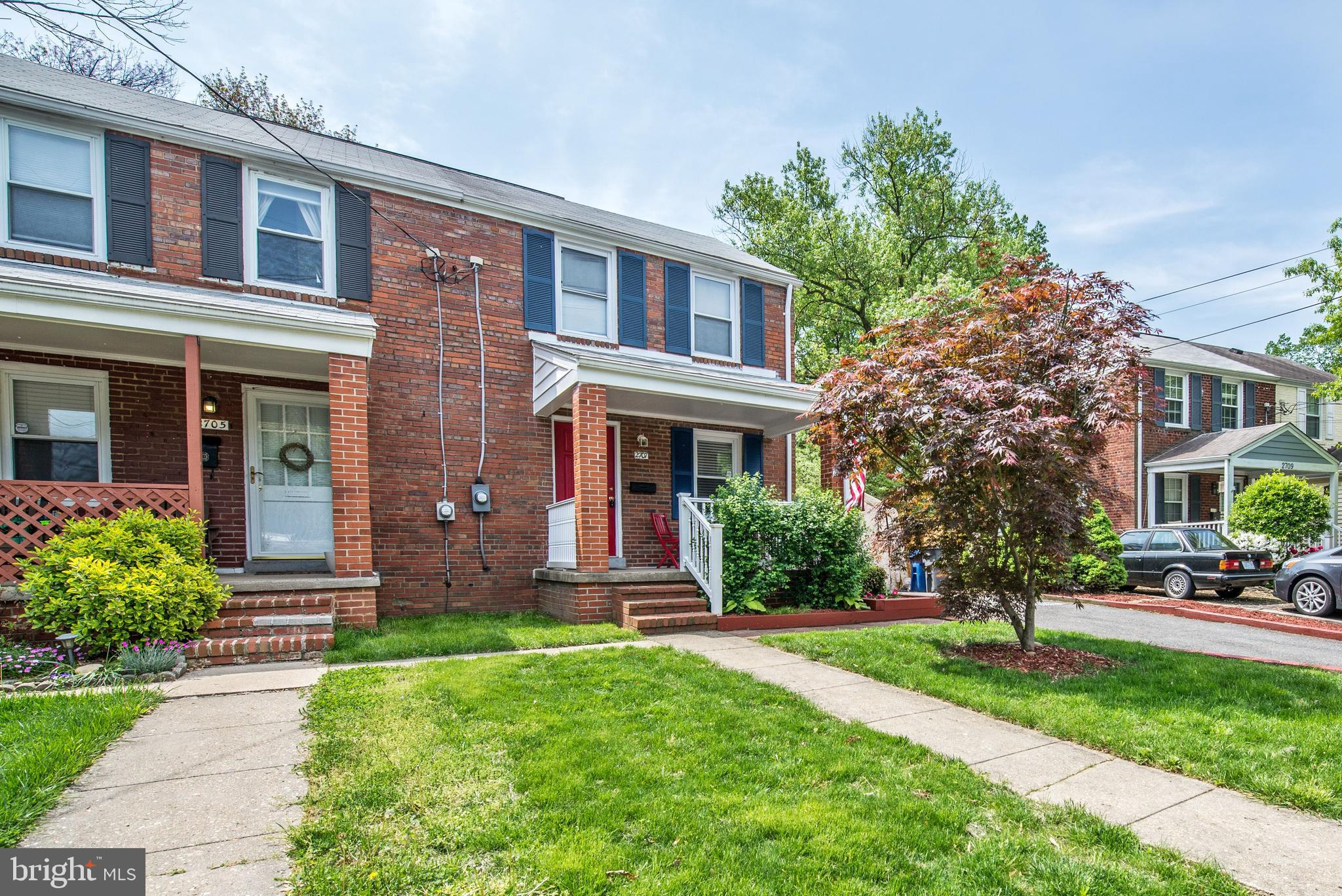 Welcome to Jefferson Manor: Well maintained and updated.  Front porch with a seating area. Living and separate dining room with hardwood floors.   Kitchen with granite counter tops and ceramic tile backsplash.  3 bedrooms and 2 full baths.  Fully finished walkout basement. Large backyard with a deck with stairs to the fully fenced backyard.  Near Metro and major commuting routes.  Shopping nearby.  Off street parking spaces in the driveway.  Enjoy the weather on the deck.  A large flat back yard that is fully fenced.