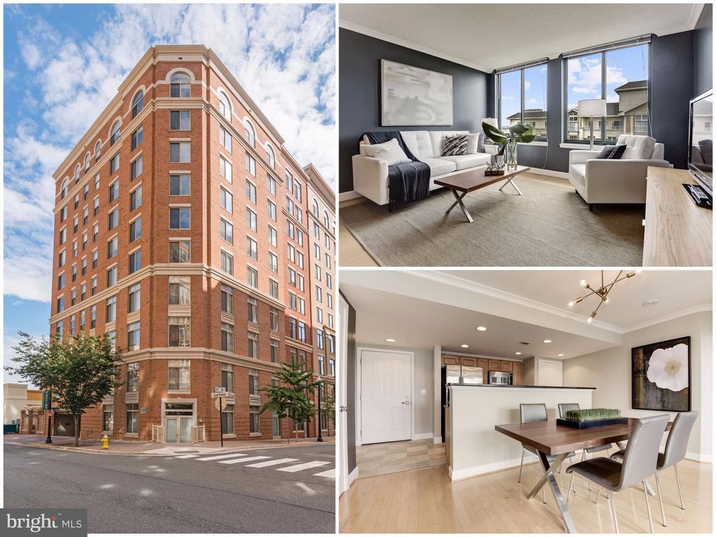 Offers, if any, due Monday - May 6th - 5pm. The ultimate city condo in the bulls eye of highly desirable Clarendon! High floor offers so much light - rarely found in comparable units. Come home to a bright & sunny open layout, large kitchen with classic black granite and stainless steel appliances, gleaming hardwoods, brand new modern light fixture, fresh designer paint, spacious bedrooms and tons of closet space. The floorplan offers 2 master suites - perfect for roommates, guests or home office, it also has a dining room - so you can live like an adult and have dinner parties. There is literally no other condo that is so in the middle of EVERYTHING - I mean BINGO!!! You can just stroll out of the front door and walk into CAVA (yum!) or Le Pain Quotidien - right downstairs. Within one block you will find Metro, Trader Joes, Whole Foods, Barnes and Noble, Crate and Barrel, Container Store, CVS, Green Pig Bistro, Down Dog Yoga and a GAZILLION other options for dining, hanging, shopping and exercising. If you choose to have a car - there is an assigned garage parking space and even an extra storage room for your Christmas decorations or camping gear.  Solid and very pleasant management is just the icing on the cake! No pet size restrictions! It is a good life at 1220 N Fillmore St. #907! Do not wait!