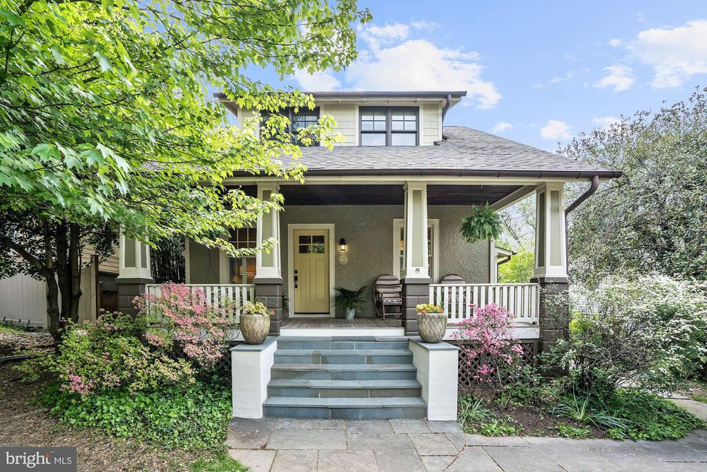 Overflowing with charm and stylish features, this beautifully expanded and renovated 1920's Lyon Village Bungalow is a special 4BR/4.5BA property that seamlessly blends the historic charm of the original architecture along with modern day features. Pitched ceilings, vast custom millwork, and chic wall coverings are distinct attributes that make this home a unique offering unlike any other. Updated in 2009, each detail of this meticulous home has been carefully considered from the spectacular Family Room with a custom concrete fireplace surround to the thoughtfulness of the lovely Mudroom and its functional built-ins. Not without fantastic outdoor space, this wonderful property has a tranquil Screened Porch that opens to a Deck and a spacious slate Patio. There is a storage shed and off-street parking in the rear.