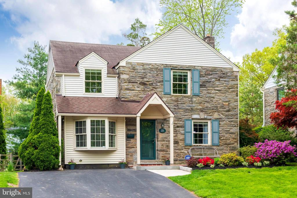 Looking for the perfect combination of a lovingly maintained house in a coveted neighborhood? Well, look no further! Welcome home to your move-in ready 2 story stone Colonial in the very desirable Coopertown section of Haverford Township. As you pull into your extra wide private driveway you will fall in love with the curb appeal. Come through the front door to find gleaming hardwood floors which travel throughout this freshly painted home. Highlighting the first floor is the tastefully updated 2018 kitchen. Popular custom white cabinetry, new hardware, and quartz countertops outfit the kitchen. New stainless appliances and a stainless sink add to the sleek clean feel of the kitchen. Enjoy a good read in the cozy, traditional LR.  Dinner in the dining room with friends enjoying a favorite bottle of wine caps off a busy week of work.  Spread out in the multi-purpose room for a good TV show with the family. Full of possibilities, this room with a full stall shower bathroom can house overnight guests, serve as an office or playroom/den. The upstairs consists of 3 amply sized bedrooms all with custom installed blinds (also found on the first floor) and custom paint. The updated neutral toned full bath offers a tub shower combo. Moving to the outdoor living space you will note the newer 20 x 14 deck just off the kitchen. The deck overlooks the larger interior flat, green back yard. Beautiful professional landscaping includes a natural border of Arborvitae. Front and side perennial flower beds add a touch of color all season long.Other improvements/upgrades are backyard shed, newer backyard custom built play structure with swings and slide, custom blinds throughout the house and new front and back storm doors. This is a must see cream puff home in a walkable neighborhood within close proximity to all major transportation.