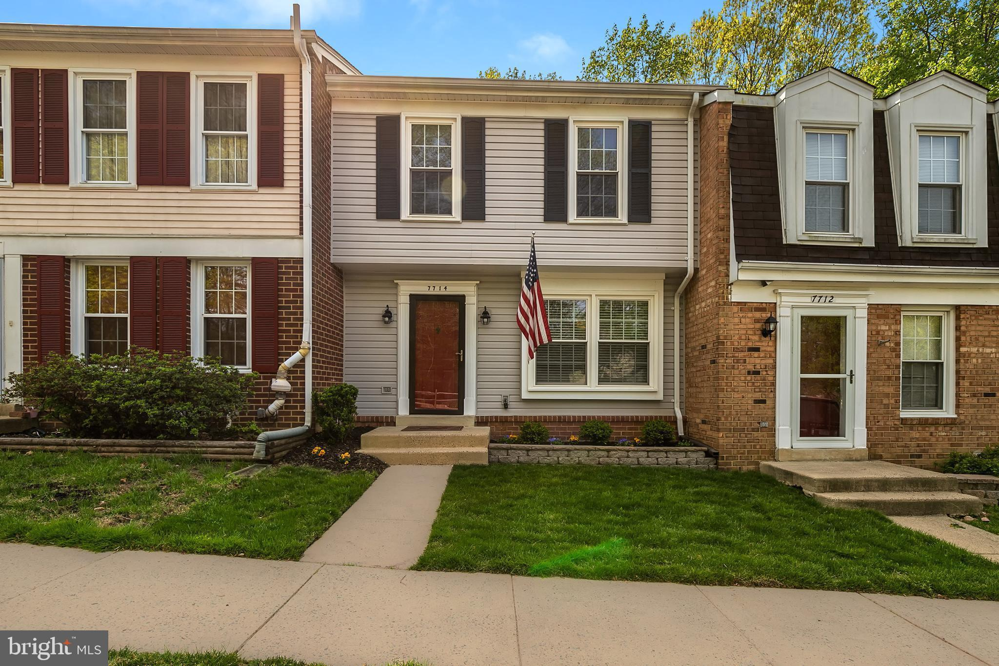 Best value in Springfield! This updated and lovingly-maintained townhome in a park-like setting offers three finished levels and includes a sizable fenced yard and patio area, ready for all your summer fun!  Enter the welcoming main level which has newer flooring, a functional open layout, and even a half bath. Downstairs is made for relaxing, playing, and enjoying the cozy fireplace on cool evenings; there is also plenty of storage and another half bath. Upstairs provides three bedrooms, including a master with en-suite, and another full bath. Home warranty included! Two designated parking spots at your front door and just steps to the community playground. Close to shopping, dining, and entertainment across Northern Virginia and DC. Hop on the nearby Fairfax County Parkway, easy access to I-95, commuting to Fort Belvoir is a breeze, 15 minutes to Springfield Town Center and Kingstowne. West Springfield pyramid. Backing to trees, this is a beautiful and comfortable space to call home!