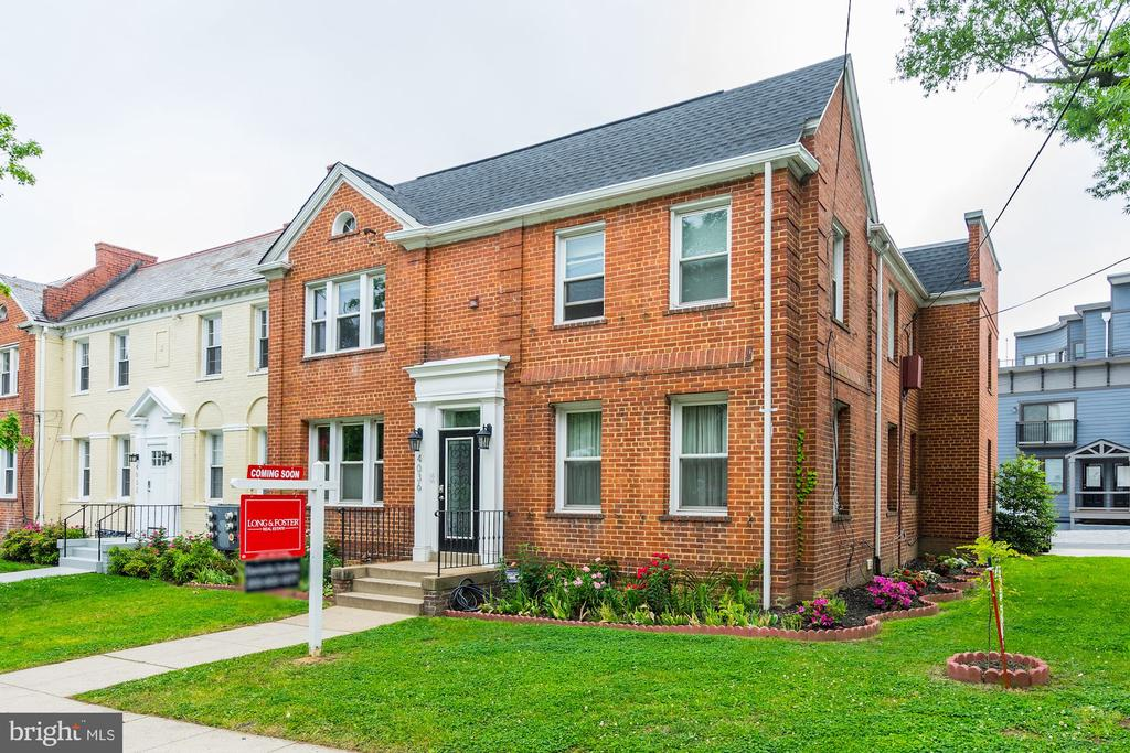 Open House Sun 5/12 1-4PM, Charming Brookland/ University Park Condo; True Two BD+Den w/ Off-Street Parking, Bonus Storage, & Outdoor Space! Unit #1 is a showstopper! Brand new kitchen has been stunningly renovated by owner: high end SS appliances, counter depth French door fridge, gas range, new pantry, custom backsplash, w/ attention paid to every detail. Warm hardwoods throughout, w/ brand new wood floors in kitchen and den. Bright living room has lovely east facing windows and pristine crown molding that flows into the separate dining room w/ built-in shelving. Master bedroom and second bedroom are separated by full hall bath. Bright den allows for home office, library, or guest space! Rear door opens to fenced shared backyard, perfect for gardening/ grilling. Catch the H9 bus right out front, or easily walk to METRO, Yes! Organic, Turkey Thicket Rec & Aquatic Center, plus all Brookland has to offer. What a gem!