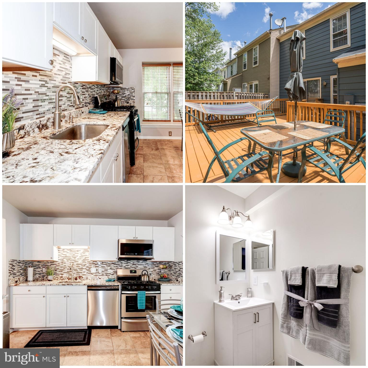Updated 3 Level END UNIT TH w/ 2 MASTER SUITES + Bonus Room w/ Walk-in Closet: Updated Kitchen w/ ALL NEW Cabinets, Stainless Steel appliances, Granite Counter-tops, Brand-New Carpet on UL, 3.5 Updated Bathrooms, w/ a Huge Deck to entertain on. Walk to public transportation, Shopping Plaza w/ a bank, Chipotle, Starbucks, Giant supermarket, Saratoga Pizzeria, Subway, and many more restaurants . Close to I-95, I-395, Ft. Belvoir, Costco, NGA and the Franconia-Springfield metro.