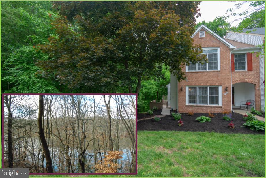 Large end unit with private wooded setting with seasonal sunset views, on the Occoquan, from the large picture windows on the side/rear of the home and over sized (2) decks/stunning fall foliage, lower level large screen porch for additional entertaining/living space. Lower level has guest/exercise or office room, off the over sized family room, full bath and wet bar area. Many upgrades put in by designer/owner example 10~ serving area/wet bar in the informal dining area off the kitchen. Fresh paint inside and out, new siding, flooring and appliances recently replaced. many upgrades.Inviting covered front porch/beautifully landscaped and private green space in front of home. Quiet setting near the point on the Occoquan. Staging accessories convey with home