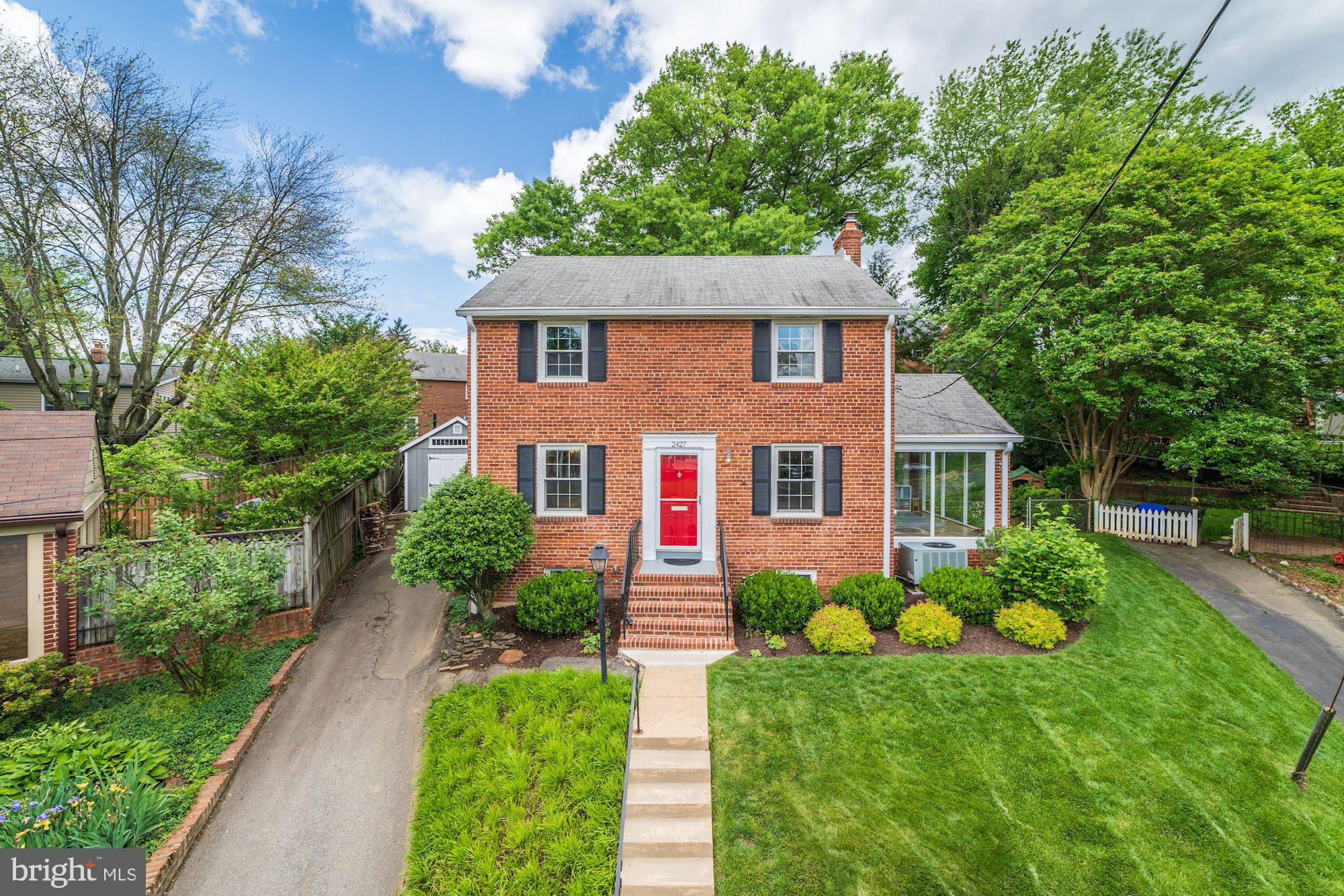 Offers Due Monday 5/20/19 at 1pm. Beautifully maintained 3 bedroom, 1.5 bath colonial on a quiet cul-de-sac in Arlington! This charming home features hardwood floors throughout, a formal living room with fireplace, sunroom and formal dining room. Enjoy an updated kitchen with brand new granite counters and stainless steel appliances that steps out to a fully fenced back yard with brand new storage shed. Upstairs, find three well-appointed bedrooms all sharing an renovated hall bath. A lower level basement with rear walk-up provides ample storage and laundry space. Ideally located just 1/2 mile from East Falls Church Metro and I-66!