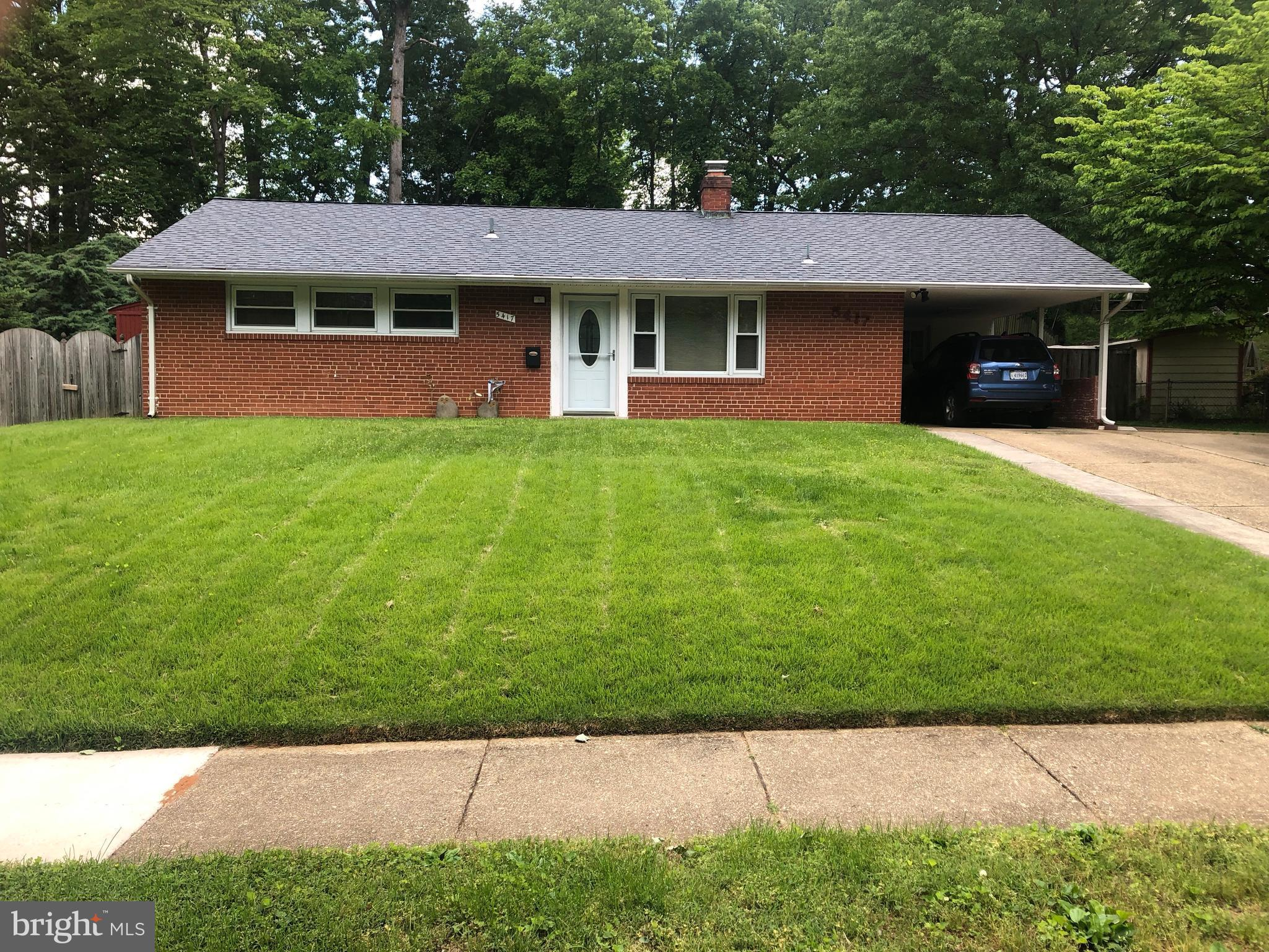 One level home located just off of Lake Accotink! With access to woods, creeks, and trails this home is a nature lovers paradise. First thing you will see is a massive yard, completely fenced in at the back. Plenty of recent updates were done including the windows, furnace, AC system, and roof. Throughout the home you will find a mixture of beautiful hardwoods, soft carpet, and cozy wooden walls. Perfectly located in a tucked away and beautiful area while still being conveniently close to major roads and shops such as 495 and Braddock.