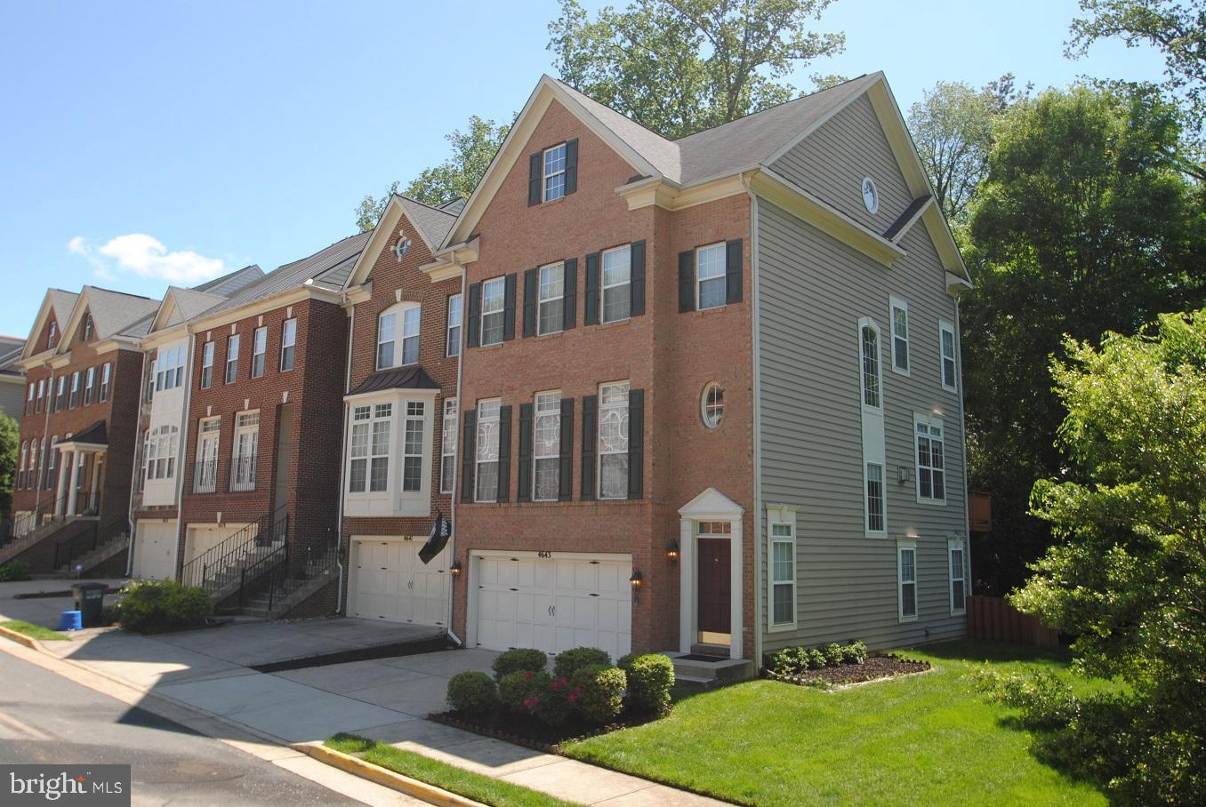 Minutes to Crystal City, Amazon HQ, I-95 & I-495, direct bus to Old Town Alexandria and Express Pentagon Metro Bus. Walking distance to Day care, and Thomas Jefferson High School for Science and Technology, a top rated, public, magnet school located in Alexandria, VA. Trail to Indian Run Creek Reserve. Best end unit in community facing large open green area. Hardwood floor on 2nd level. Gourmet kitchen with maple cabinets, granite counter tops, stainless steel appliances, and two-level eat-in island. Family room with large windows and sliding doors leading to huge deck. Luxury master bath with Jacuzzi tub and enlarged shower. Lower level with a full bath rough-in. Excellent and truly moving in condition. Furniture and curtain can be bought separately.