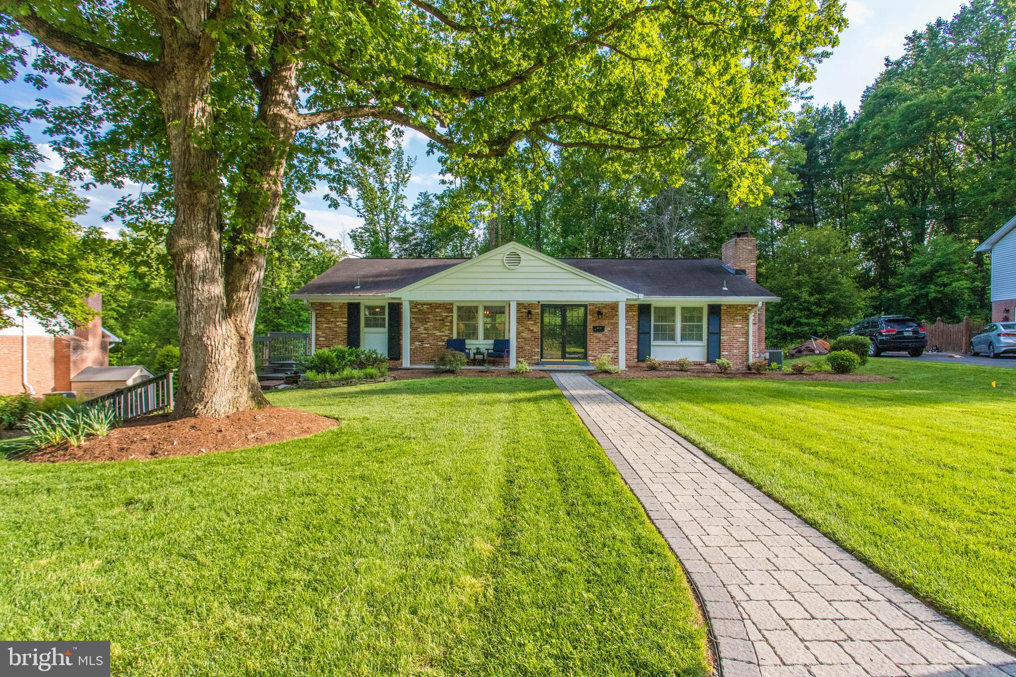 Sought-after and rarely available 4 BR/3 BA raised rambler, backing to parkland and creek, in beautiful Camelot.  This home is classically designed with thoughtful updates.  Excellent replacement windows 2017, deck/patio new in 2017, appliances 2015, furnace and AC 2013, water heater 2017, all make this a smart purchase!  This home is a gem!