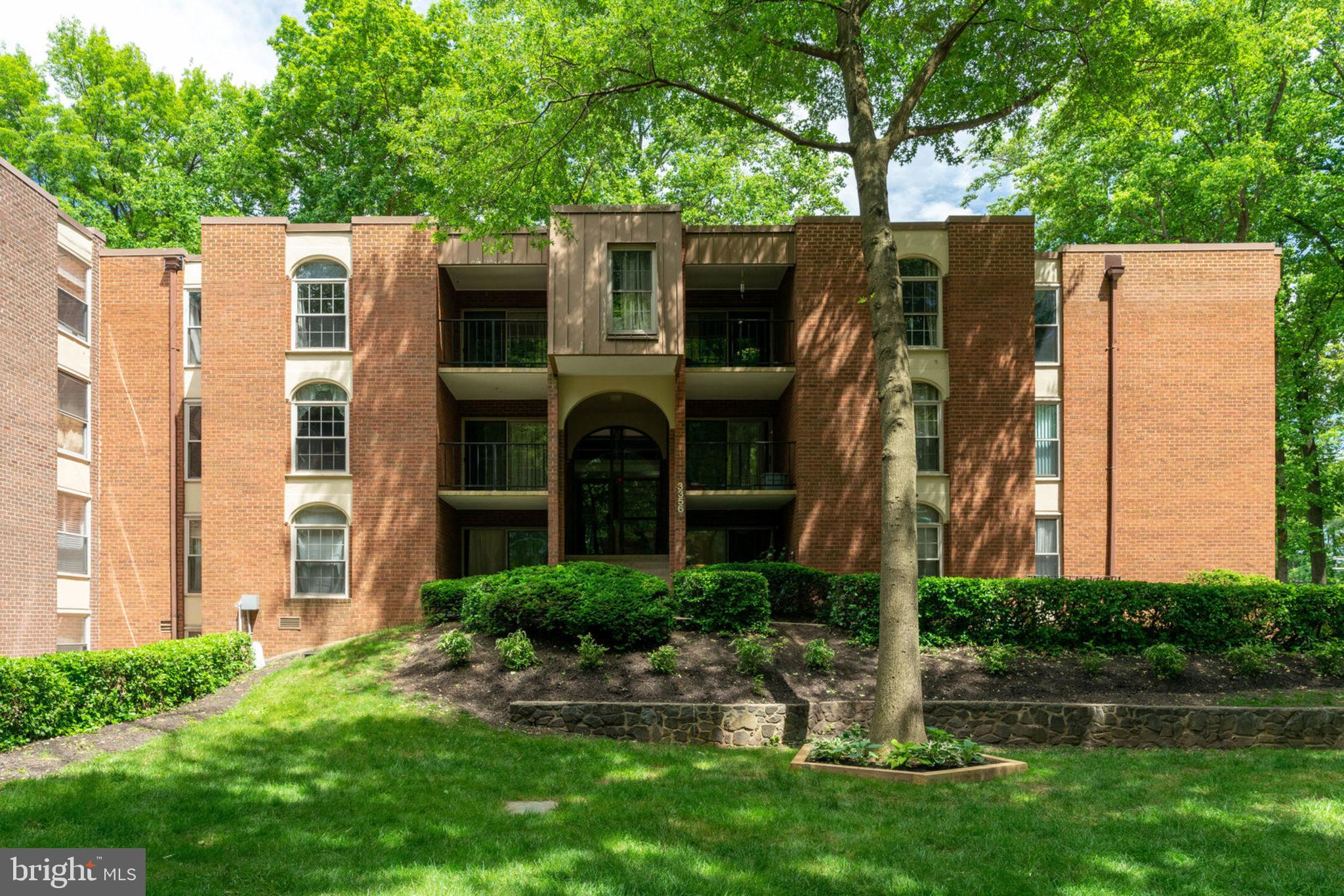 Charming 2 BR/1.5 Bath Condo at Woodburn Village.  Ready for your move-in with UPDATED kitchen and FRESH paint.  NEW 2019: Electrical Panel and Appliances.  NEW 2018: Carpet.   Unit is on the top floor providing privacy and tranquility as your balcony faces into the center garden and courtyard.  Condo Fee includes ALL utilities.  Easy access to Rt 50, I-495, I-66, Mosaic District and Tyson's Corner, and a short walk to metro bus at the Inova Fairfax Hospital.  You're right across from Pine Ridge Park with a community garden (Bo White Garden) managed by Fairfax County Authority. Assigned parking space #168, Storage Unit #17.