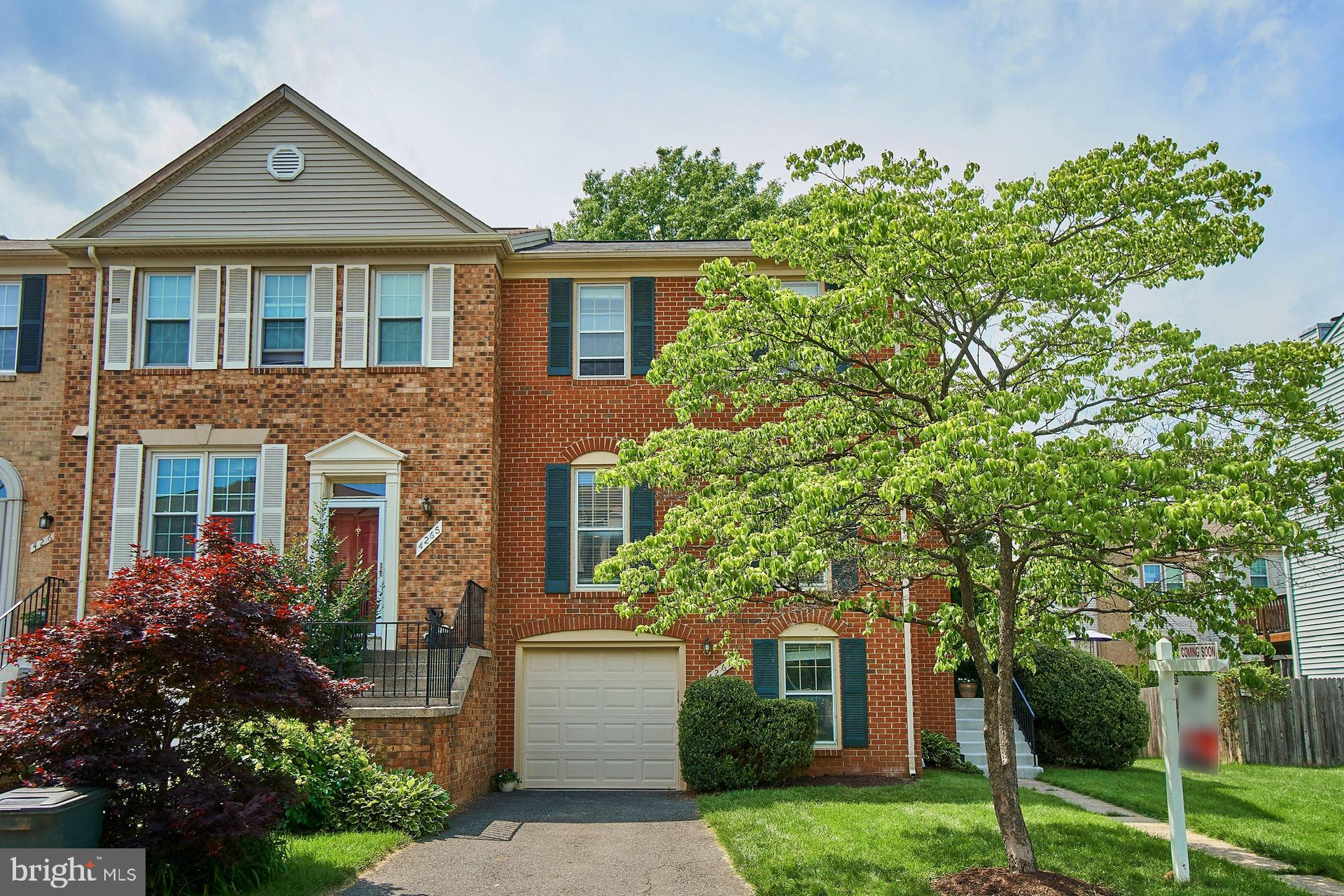 Open House, Sunday, 5/26 from 1-4pm. Enjoy this end-unit townhome in the Fair Ridge Neighborhood. Great natural light, good room sizes, garage parking and storage make this home a wonderful place to live and entertain. Hardwood floors, new light fixtures, granite counters and stainless steel appliances are some of the highlights. Newer hvac and roof. Deck off kitchen and a fully fenced patio. This home is conveniently location near restaurants, shopping, grocery and parks. You can avoid the car and embrace the walkability and fresh air. Spend time at the pool, playground or on the walking trails.
