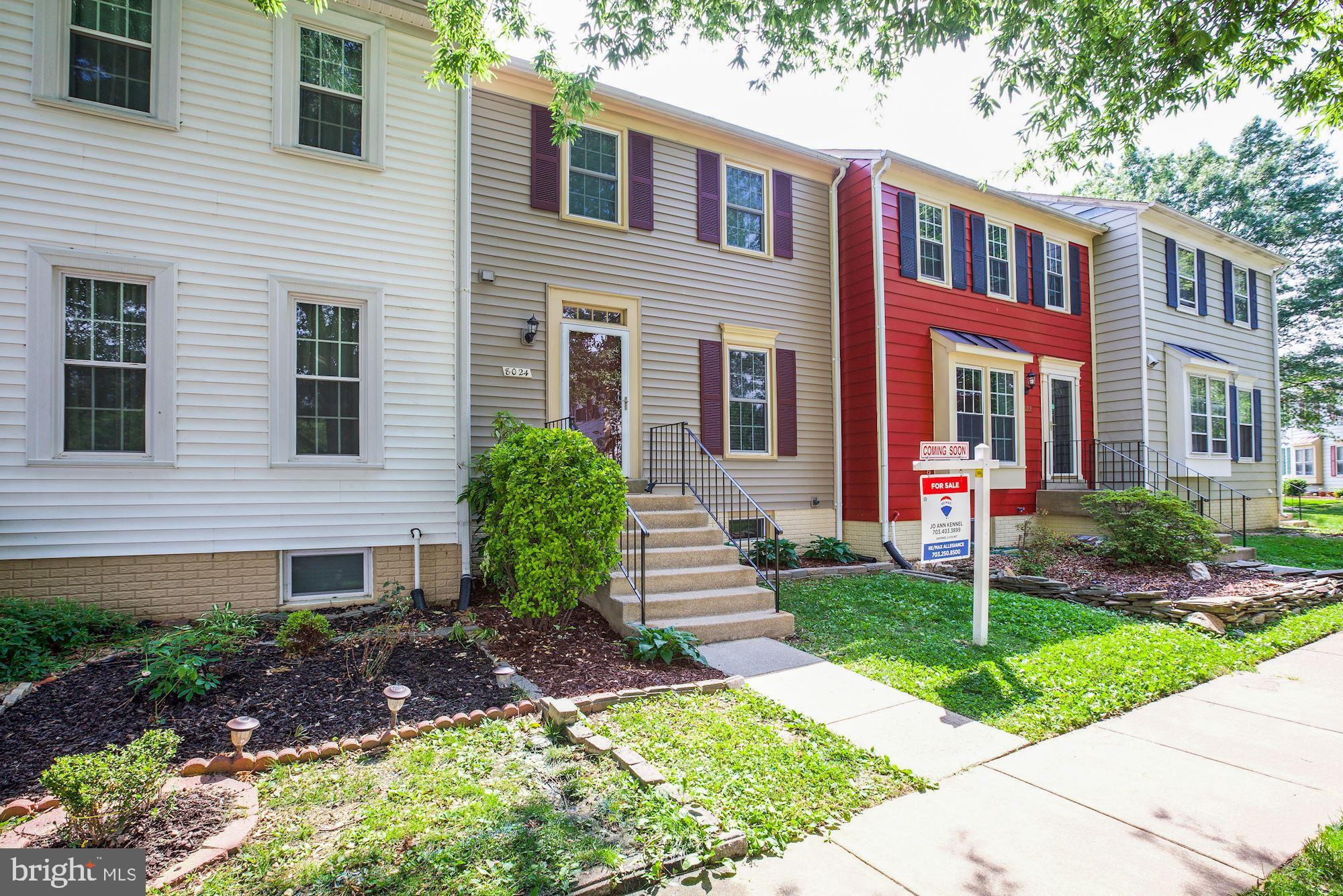Updated 3 level 3 bed/ 2.5 bath town home featuring updated kitchen with added custom corner unit for kitchen storage and quartz counter tops, Hardwood Floors throughout Main level, new carpet in the upstairs and basement levels, crown molding throughout all three levels, fresh paint, newer Roof, Siding/Gutters, stainless Gas Range, Refrigerator. and Dishwasher, newer Toilets in all baths, Master Bath with granite and porcelain tile, half bath with quartz counter top, renovated 2nd full bath, Triple pane windows and sliding door leading to paver patio, hot water heater (2018), AC unit (2017) Finished basement with rec room, full bath and office/den, added storage, third floor laundry for ease and convenience, new ceiling fans with over head lighting on the third level, recessed lighting in the master, main floor and basement. Two reserved parking spots, one located directly outside the front door.  Nice neighborhood, walking distance to shopping center and elementary school.   Minutes to NGA, Belvoir, metro, commuter lot, public bus and newly remodeled mall (Springfield Town Center).  Easy access to 95 North/South.  Community pool by membership.