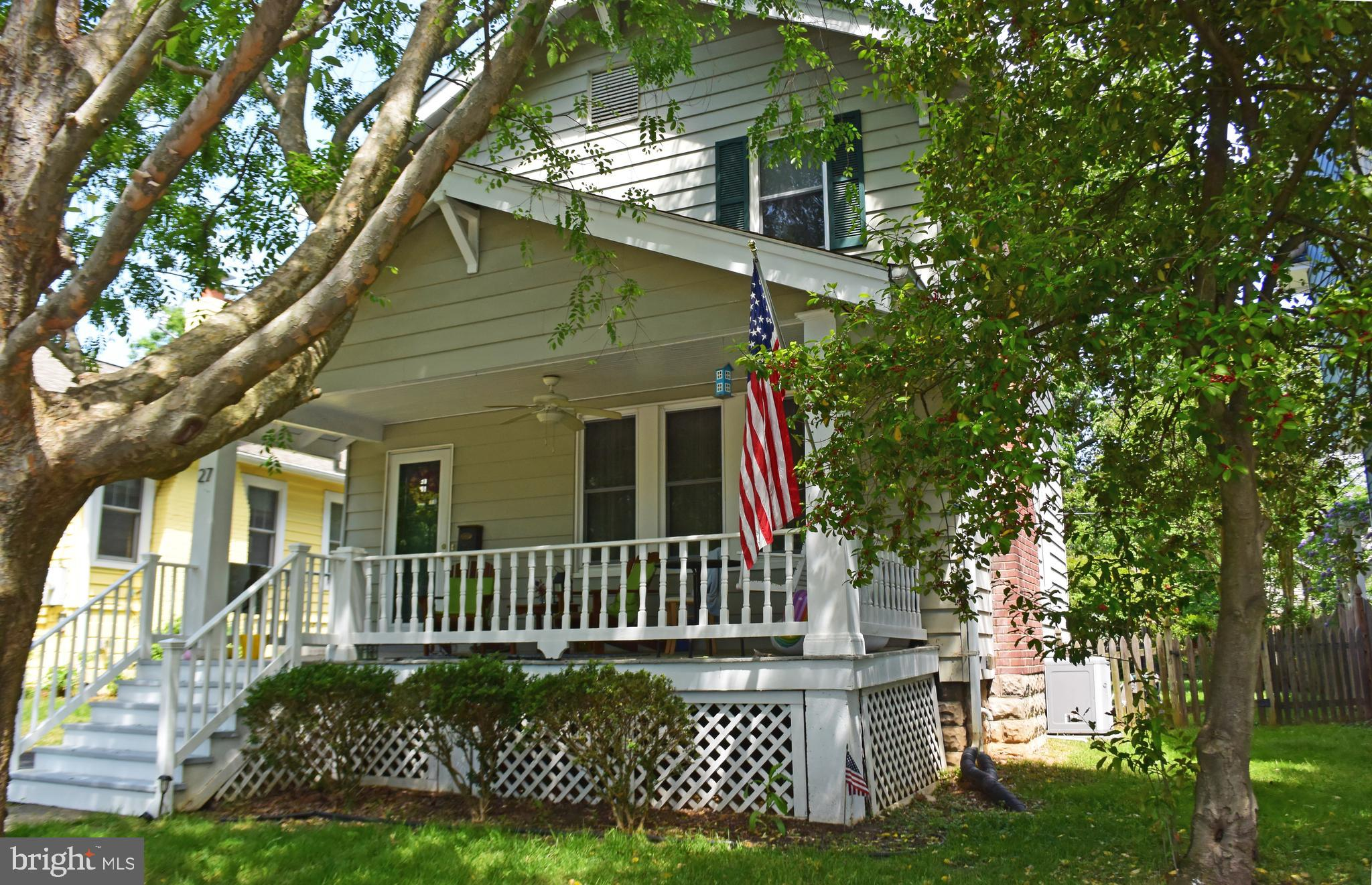"""Charming Rosemont colonial with front porch. Large living room with crown molding, wood burning fireplace. Recessed lighting. Hardwood floors throughout. Large level back yard, detached garage, Near two Metro stops. Sold in its """"as is"""" condition."""