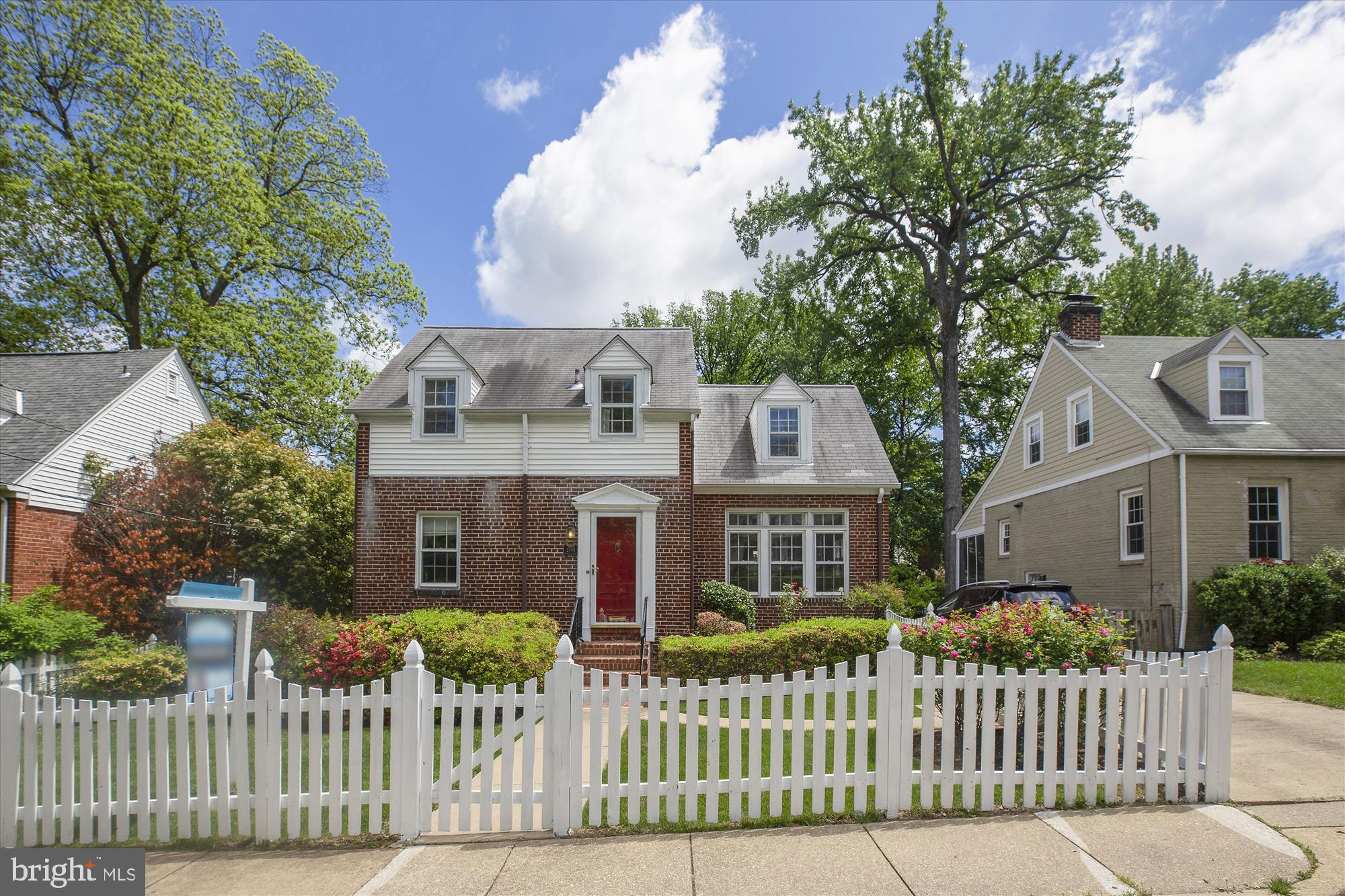 Beautifully updated, renovated brick Cape Cod not far from Shirlington between Mansion Drive and Del Ray. When you enter this charming home, the first thing you will notice is the newly refinished wood flooring, which flows throughout the main and upper levels. The sun filled living room is lit by multiple windows and features a cozy wood burning fireplace and hardwood mantle. Freshly painted throughout.  A bright white kitchen with new granite counter tops along with gas cooking make meal preparation a pleasure. The upper level boasts three bedrooms with full bath. The two full bathrooms have both been renovated with tile and elegant fixtures. The main level has a bedroom/office which overlooks the tranquil backyard and access to the rear deck. Sit and read or just relax on the private deck. In the spacious lower level, you will find the family room, rec room, and laundry room. Abundant storage throughout. Fantastic location close to I-395, Old Town Alexandria, King Street and Braddock Road Metro Stations, minutes to Arlington, Crystal City and Washington DC.