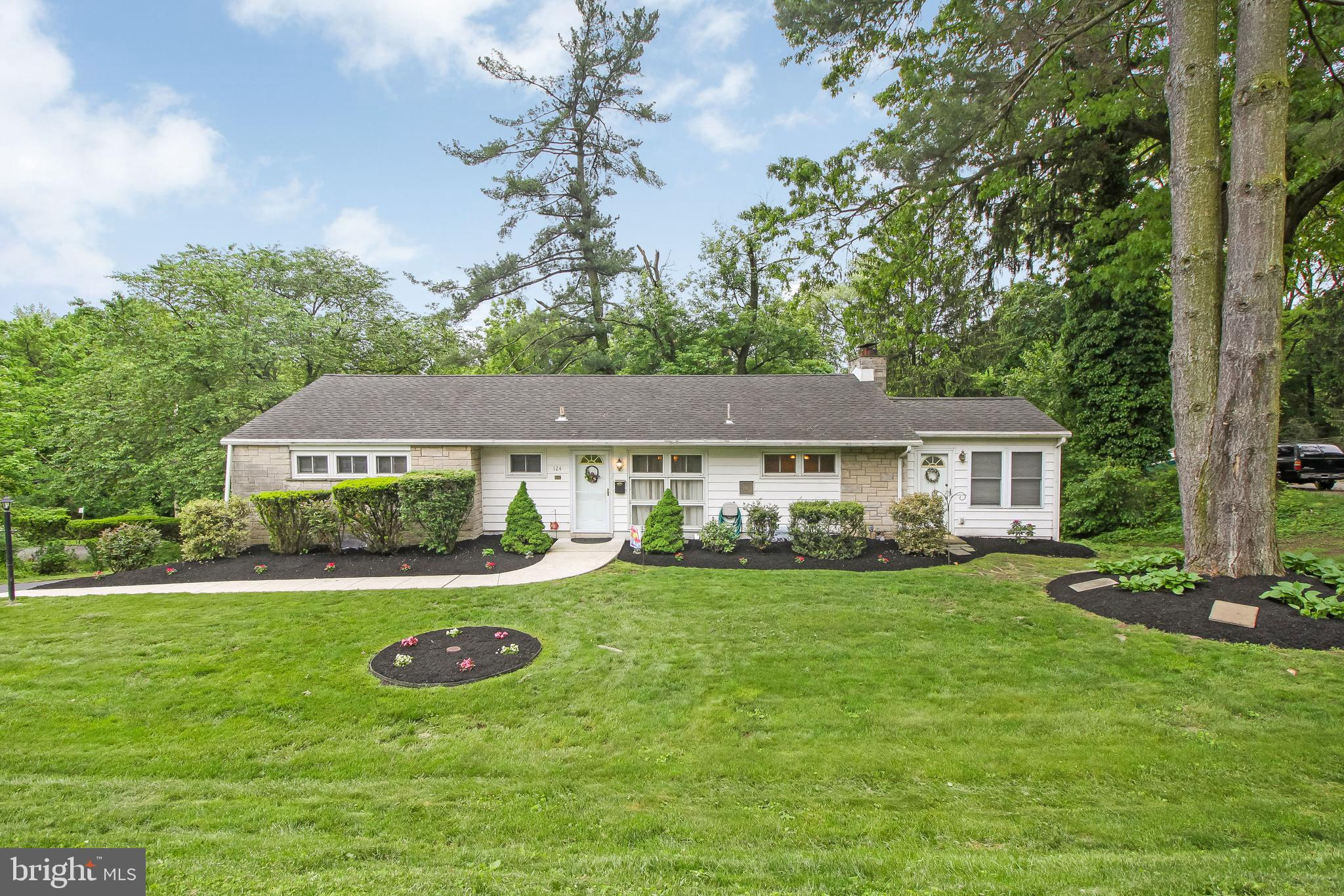 One floor living in desirable Springfield Township is waiting for you! Situated on a large 105 x 160 lot with views of trees and deer, but convenient to everything! Boasting over 1800 sq ft of living space this rancher offers a flexible floor plan to fit your needs! Upon entering you are greeted by the dining room that could be your entrance foyers that leads you into the generous living room with loads of windows and beautiful views complete with a gas fireplace. The kitchen has been updated with granite counters with an adjoining addition that could become your dining space or remain as a cozy den surrounded by windows and outside access. Completing the main level are 3 nicely sized bedrooms and hall ceramic tile bath. The basement offers additional living space with even more windows to take in the natural light and views, convenient half bath, spacious laundry/mechanical/storage room, as well as inside access to the large 23x24 two (2) car garage. Outside the basement family room is a patio to further enjoy the setting or your next get-together. Additional amenities include large driveway with parking for multiple cars, dimensional shingle roof and windows 2008, boiler 2004, oil tank 3 years old (gas in home if preferred), close proximity to transportation, major arteries and highways, replacement windows, and so much more!