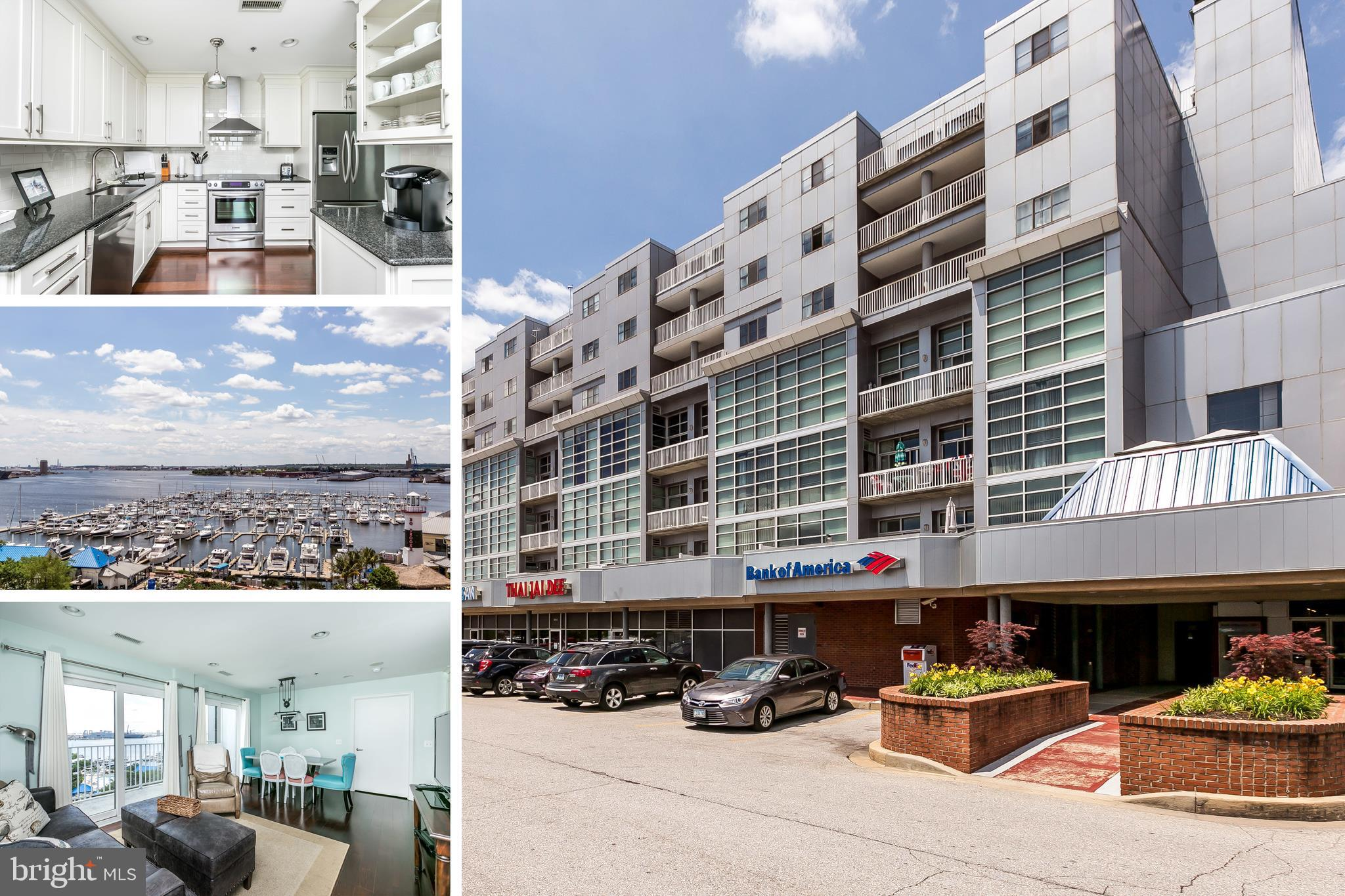 Rarely Available In Lighthouse Landing - Top Floor 2 Bedroom 2 Bath Unit w/ Stunning Water & City Views! Updated Kitchen & Baths. Wood Floors Throughout. Garage Parking, Building Security & Fitness Center. Just Steps From The Waterfront, Restaurants & Shopping. Easy Commuter Access To 95, 83, Hopkins & Downtown - This One Will Not Last!