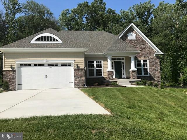 Gemcraft Homes Quick Delivery near White Marsh Mall. This dream ranch home has everything from a gorgeous partial stone exterior to a see through gas fireplace that can be enjoyed from the family room and the screen porch.  Lower level incorporates a rec room, home office, media room and a full bath.  Many more upgrades through out.Home surrounded by wooded preserve on a quiet cul-de-sac.  Close to I-95, beltway, Rt. shopping and recreation.  Taxes are on land only.