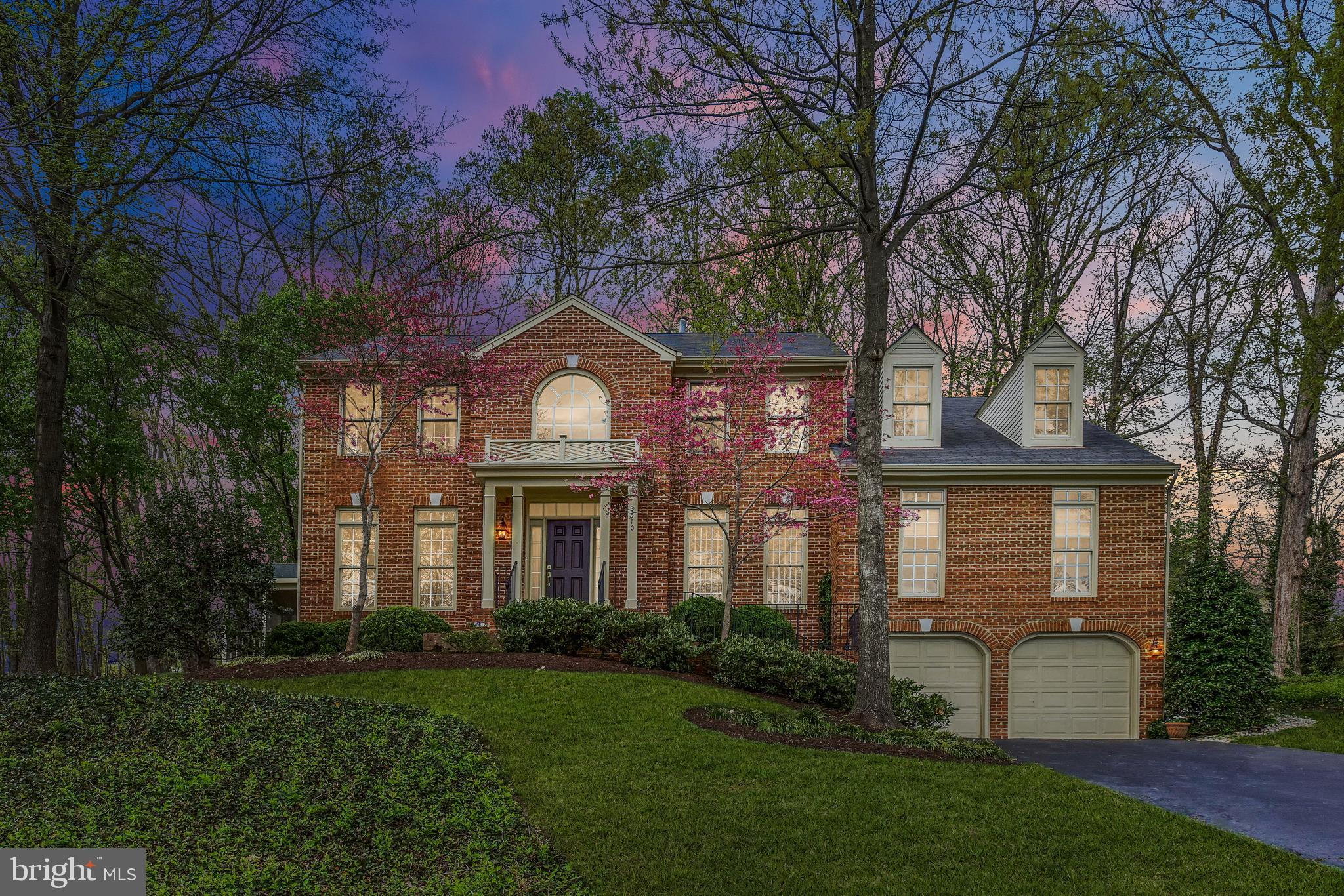 This gorgeous center hall Colonial offers an abundance of space you would not imagine. Built on a corner lot, and surrounded by peaceful mature trees, this stately residence has been meticulously cared for by one owner since it was built in 1995. Walking into a grand two-story foyer entrance, the cathedral ceiling entry soars and showcases a stunning Palladian window. Refined hardwood floors warm the main level and wind through all rooms with the exception of one, which offers plush new carpet. Upon entering, the foyer is flanked by an office/den or formal living room. Both capture your attention and command an audience. The living room has a wood burning fireplace and mantle and naturally flows into the formal dining room making future entertaining comfortable. Accenting the dining room are architectural columns that give it a refined feel and a beautiful bay window. Extending a dinner party outside is made simple with the addition of a tranquil screened in porch accessed off the dining room. Can anyone say nightcap? Moving to the most loved room of any home, the kitchen, you will want to put your culinary skills to work here! Stainless appliances, a double oven, ample countertop space for meal prep, and tons of cabinet storage, a large pantry, built-in desk, and breakfast bar all overlook the eat-in niche and adjoin the family room with a gas fireplace and brick hearth to curl up next to in the colder months. And just when think this floor is complete, you~d be wrong - from the family room, through French glass doors, there is a great room ideal for kicking back and relaxing. Oh, and did we mention the laundry room and a half bath are also on this level? Phew- think we got it all now. Ascending the staircase that leads to the upper level, there is a large landing that gives you the opportunity to sink in that there are 4 graciously sized bedrooms, including the master, destined for all day sleeps-ins available, as well as 3 full baths. The master bedroom is a sanc