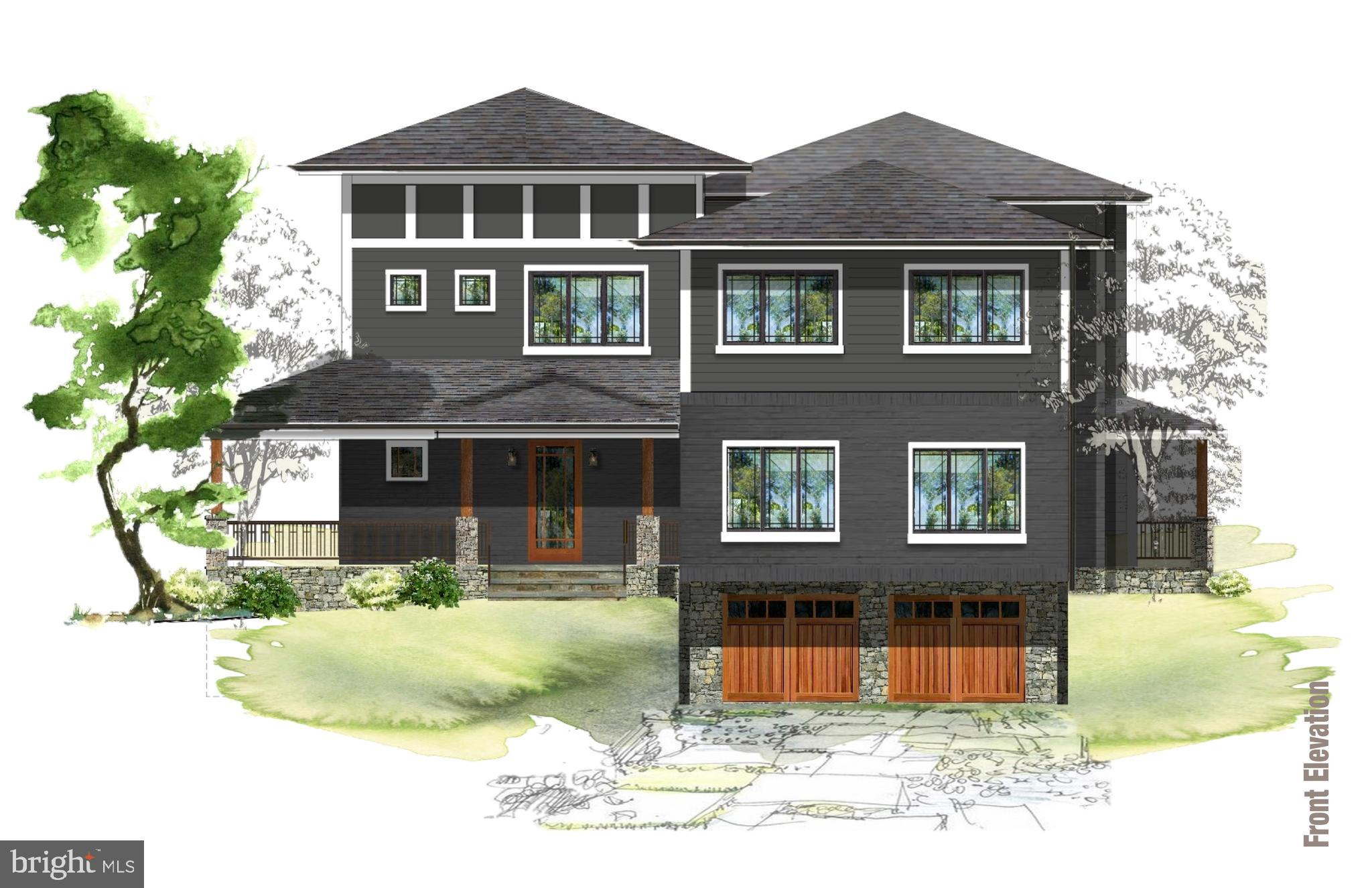 Exciting new offering from Hartland Development! On the cutting edge of trends in design and architecture, this unique home will delight you. The open spaces of the main level are further enhanced by the 10' ceilings and the upper level's 9' ceilings lend a feeling of elegance to the 4 bedrooms and 4 baths. A rough in elevator shaft has been incorporated into the plan to allow for that option. Located in the highly desirable Springfield neighborhood just a couple blocks from Wood Acres Elementary School and the popular Wood Acres Park, this fantastic home is served by Walt Whitman High School. Fall 2019 delivery is expected.