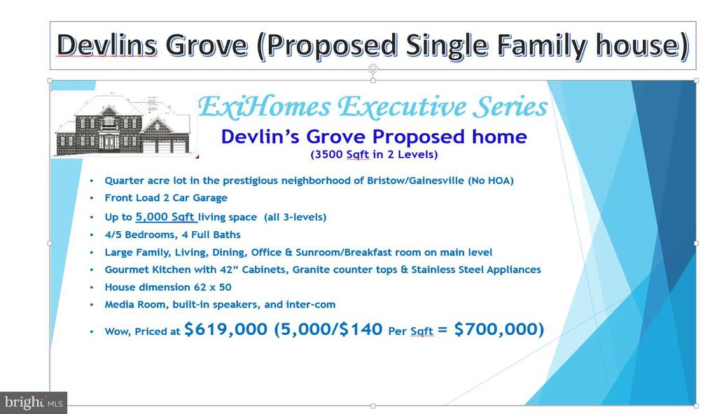 SAMPLE LISTING * CONTACT Builder/Owner directly for more information.  New Single Family house to be built.  Total square footage will range from 3000-3500 sq ft on 2 levels plus basement.  Total of 4 lots available ranges from .21 - .31 acres.  **NO HOA***.  Call owner directly to find out pre-construction options incentives.  No floor plan has been finalized yet.  House can be customized per client's need.