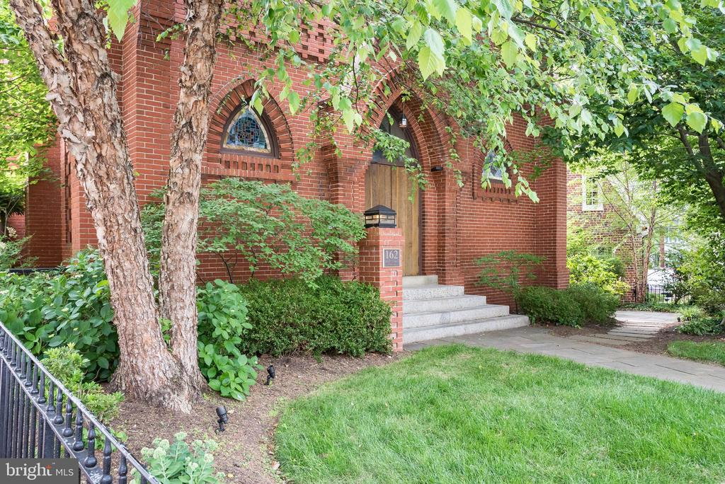 Located in the heart of the Historic District & built in 1886, The Gothic Revival Chapel is one of Annapolis' most beautiful buildings and offers an unparralled city living experience. The Residences of 162 Prince George Street include 2 private entry homes: The Chapel and The East Street Annex.  The Chapel has grand entertaining spaces & intimate living spaces with 3 bedrooms & 3 1/2 Baths and 3300 Square feet with unparralled views of the Maryland State House. 39 East Street has 2 Bedrooms with 2 1/2 baths and 1600 square feet. The building was completely renovated with the best  materials in 2003. Two Condos, One Building at the listed Price. The two Condos can easily be converted to one space. Parking available.  See listing at 162 Prince George Street. Taxes are for both condos. Listing agent to accompany all showings to pre-qualified Buyers.
