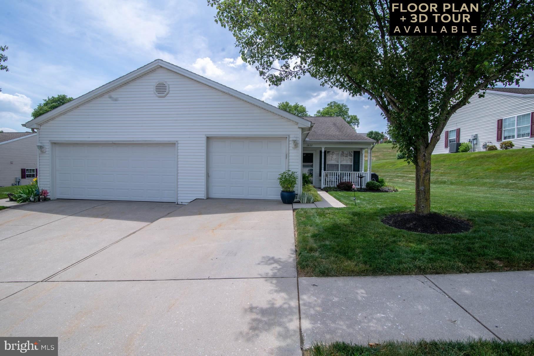Are you ready to move?  Move right into this one-floor, 2-bedroom, all newly carpeted ranch in Seneca Ridge!  All appliances have been upgraded including a new washer and dryer.  No more climbing stairs.  You can't find better living than this!  Don't wait; this home is priced to sell.