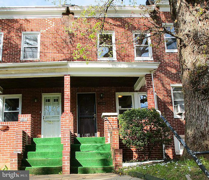 Check out this solid brick rowhome in Belair-Parkside neighborhood. Home features spacious room sizes, wood floors, separate dining area, large eat-in kitchen and full basement that  can be used as added storage or finish off for additional living space. The ample rear yard and front porch is great for warm weather entertainment. Good location - near Herring Run Park, schools, shopping and restaurants.