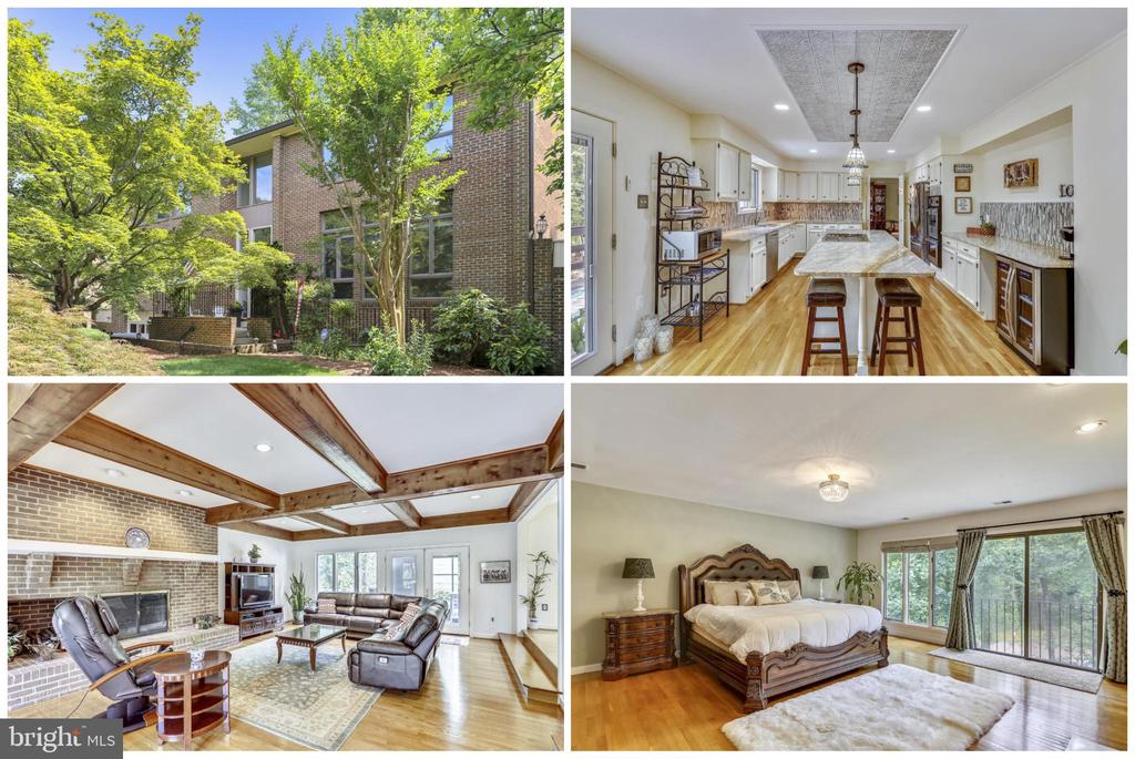 """Have your first pool party by Labor Day!  With a price adjustment to $850,000 this Grand 4/5 Bedroom, 3 Full Baths & 2 Half Baths, with views of Ridgeview Park is an excellent value & investment! Gorgeous hardwood floors throughout ~3 wood burning fireplaces ~ exceptional open concept Kitchen with an 8 ft island steps into expansive wood beamed Great Room *** Custom designed Master """"Spa""""  Bath including a free standing soaking tub, glass frame shower, heated towel rack, Travertine flooring, walk in WOW factor master closet ~ 3 additional spacious Bedrooms with generous size closets ***Lower level full Bath, closet and Bedroom area presented as a private au pair/in law/guest suite (5th bedroom) & a spacious Den/exercise/family room & a hall Half Bath. High ceilings and large Anderson windows with transoms offer the maximum bright natural lighting.  Exterior landscaping is lush & exotic ~ a Hawaiian oasis with an in-ground heated pool & Jacuzzi and entertaining deck featuring a mural of Lanikai, Oahu (commissioned local artist Amy Tubbs) ~  enjoy moonlit dinners & entertaining on the large rear upper deck  ~ portable greenhouse for plants & herbs, outdoor mounted heater, large retractable awning and a Stunning tree lined vista of Ridgeview Park creek & wildlife (FFX County watershed & beautification restoration project currently underway).  Low maintenance natural ground cover fenced back yard. Major Updates: NEW dual HVACs, Kitchen renovation, Guest & Master baths, main level French doors, Roof 6 years new, soffits, gables & gutters, upgraded electric panels and electric box, and a 2 car extended garage with a built in TESLA charging station.  Located on a peaceful & serene cul-de-sac, yet only moments from the hustle of the beltway, metro, Historic Old Town Alexandria and Ft. Belvoir with easy access to Kingstowne & Wegmans, major highways & 3 metro stations ~  Convenient to schools; public transportation, shopping, dining & all the benefits of established urban liv"""