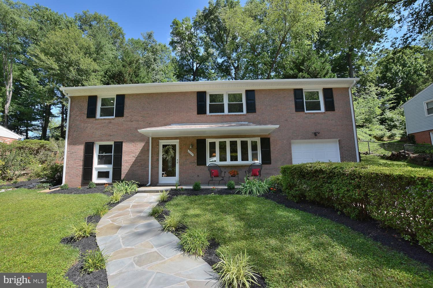 Welcome Home!  This immaculate all brick home on a terrific lot is turn-key ready for new owners!  Some of the many updates include designer inspired fresh interior paint, updated HVAC, beautifully refinished hardwood flooring, updated lighting, updated gutters and downspouts and fresh exterior paint.  The Main Level includes a spacious Living Room with large bow window for plentiful natural sunlight, separate Dining Room with wood flooring and chair rail adjacent to the tastefully updated Gourmet Kitchen with quartz countertops, dimmable under cabinet and  overhead recessed lighting, stylish back splash, ceramic flooring, stainless steel appliances, plentiful cabinetry and gas cooking.  Also, on the main level are the convenient Powder Room, Laundry/Utility room with washer and dryer and access to 1 car garage. The upper level features hardwood flooring, a spacious Family Room with dimmable recessed lighting, plentiful natural light and sliding glass doors leading out to the expansive stone patio and large rear yard.  Other features of the upper level include the Master Suite with full bath, 3 additional spacious Bedrooms and remodeled Guest Bath.Be sure to note the stone lead walk and patio leading to the front entrance as well as the large stone patios in the rear which are perfect for outdoor entertaining, one of which features a patio swing and is covered by a trellis & Whisteria providing a shaded area for those hot summer days.  Located in highly sought-after West Springfield High School pyramid. Great commuter location close to Bus lines, Slug lines, Fairfax County Parkway, Fort Belvoir, Metro/VRE, not to mention the great surrounding shopping and restaurants, including Springfield Towne Center.  Be sure this one is on your list!