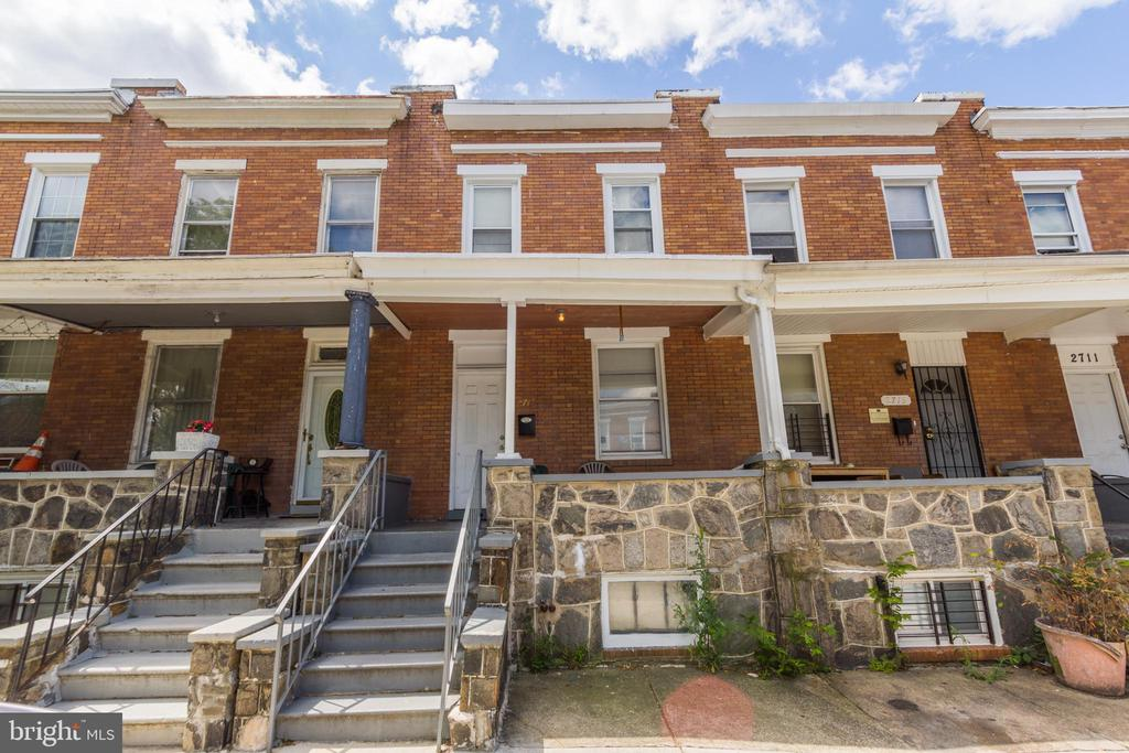 INCREDIBLE INVESTMENT OPPORTUNITY! Large 3 bedroom, 1.5 bath rowhome with open floor plan!  Main level with spacious living room, separate dining room, and kitchen w/ tile backsplash, upper level w/ 3 large bedrooms & 1 full bath, unfinished basement w/ laundry area & half bath, and fenced rear yard.  Tenant occupied through 10/6/19.  Current tenant pays $1,000/mo.  Sold As-Is!