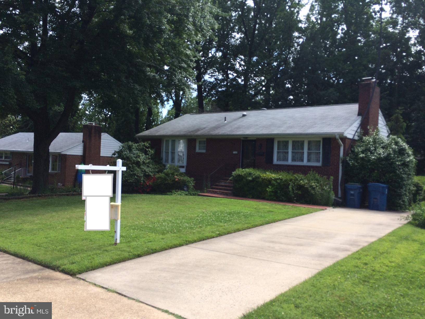 Investor opportunity or commuter owner dream. No interior showings till 7/1, but offers welcome now. Hardwood and ceramic tile floors throughout. Expanded brick raised rambler on 0.28 acre lot in commuter dream location just inside Beltway at Braddock. Beautiful mature landscaping all around the lot. Sunroom addition on the back adds space and light!  Tenant out 7/1. Renovation done 7/9. Update and enjoy or built a massive home here in this delightful quiet neighborhood.