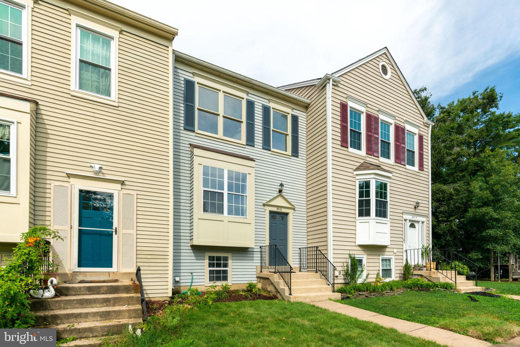 Freshly Painted Townhome with numerous Upgrades!  New Features include : berber carpet throughout, porcelain tile floors Kitchen/Foyer/upper lvl Baths, Vanities/fixtures,lights/mirrors in upper lvl Baths, Granite Counters/Sink/Light & Plumbing Fixtures in Kitchen, Sliding Glass Door in Basement, Washer & Dryer! Toilets 2016, HVAC & Condenser Replaced 2014. 2 Master Suites with Private Bathrooms on Upper Level! Finished Basement with Full Bath and walk-out to backyard could be configured for 17'x11' BR!  Basement also features Laundry, & Storage! 2 Reserved parking spaces near front walkway, PLENTY of visitor parking within 100' of front door. WALK TO Lorton Station VRE, Restaurants, Shops, & Offices!