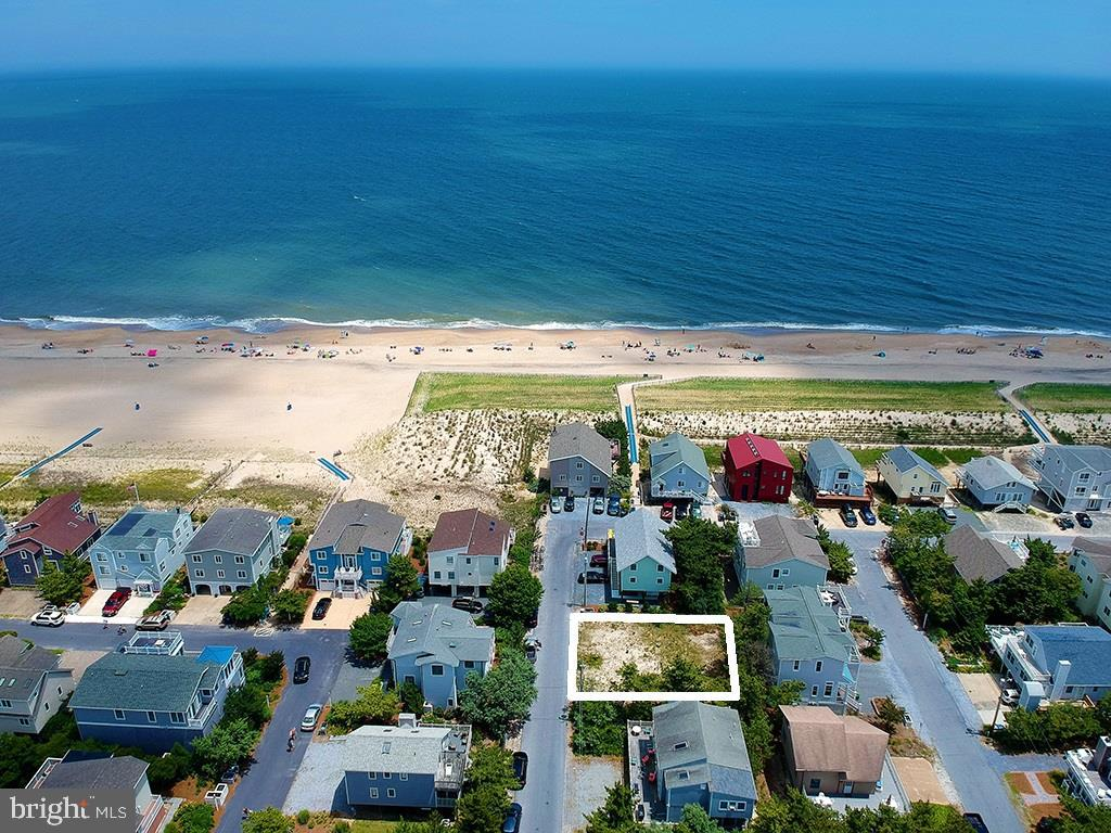 Just 2 lots off the oceanfront, this is a rare opportunity to build your dream home on an ocean block property located in South Bethany. This large 70 x 70 lot is only steps from the dune crossover to the beautiful life-guarded beach.  Positioned on the Northernmost street in South Bethany, this parcel overlooks protected dunes to the Northeast, providing the potential to capture exceptional views of the beach and ocean from your new home.~