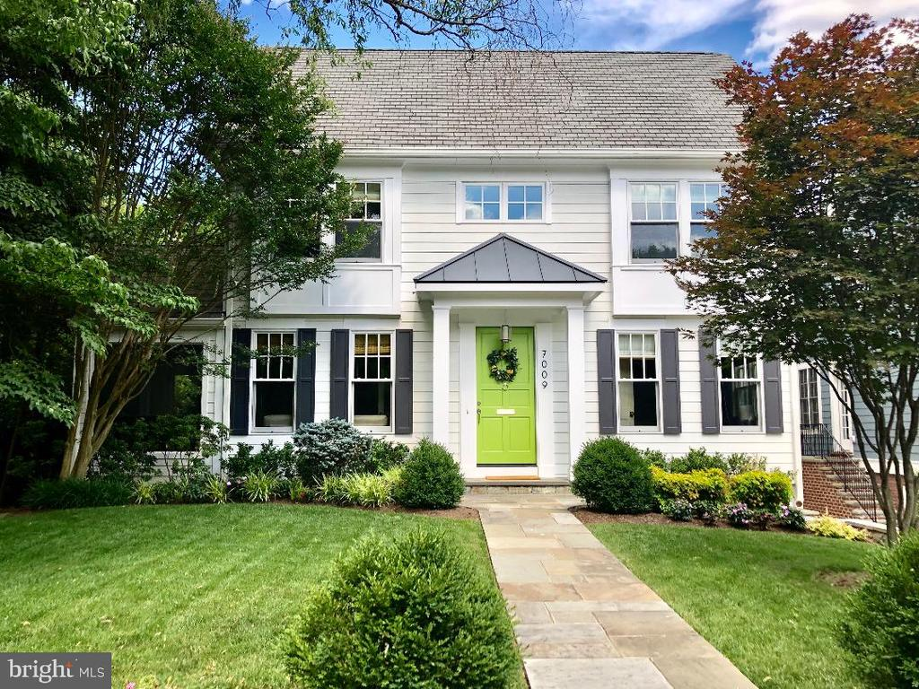 Unbeatable NEW PRICE for this newly-built 4,000 sq.ft. green home in the heart of the Town of Chevy Chase, MD!  (NOTE: Listed square footage reflects tax records only.  $/sq.ft = 511.25)  Classic yet modern, traditional meets tech in a true example of town and country living.  This home is built using LEED design principles in a hyper-efficient foot print and layout.  Within a short walk to downtown Bethesda, it is perfect for those looking for a healthy lifestyle.  Work in downtown Bethesda?  Ditch your car!  Private space is prioritized with four spacious ensuite bathrooms and an above-ground (read=light and bright) in-law suite or potential rental space with kitchenette and separate entrance.  High-end EnergyStar appliances, a ~baking island,~ spacious pantry and an herb garden make the kitchen a cook~s dream.  High tech elements are incorporated inside and out, such as personal charging stations in the mudroom, mobile device-controlled multi-zonal Sonos system, and a smart irrigation system.  Additional flex space includes a home office and adaptable first floor room that can evolve with changing needs; playroom, home theater, additional guest room, etc.  This home also features unique luxury amenities like heated stone floors, a gym/yoga studio, and a to-die-for breezy screened porch that takes full advantage a professionally landscaped lot surrounded by mature trees. A one-of-a-kind secluded oasis, this is the only property in Chevy Chase backing onto the exquisite Thornapple Path.