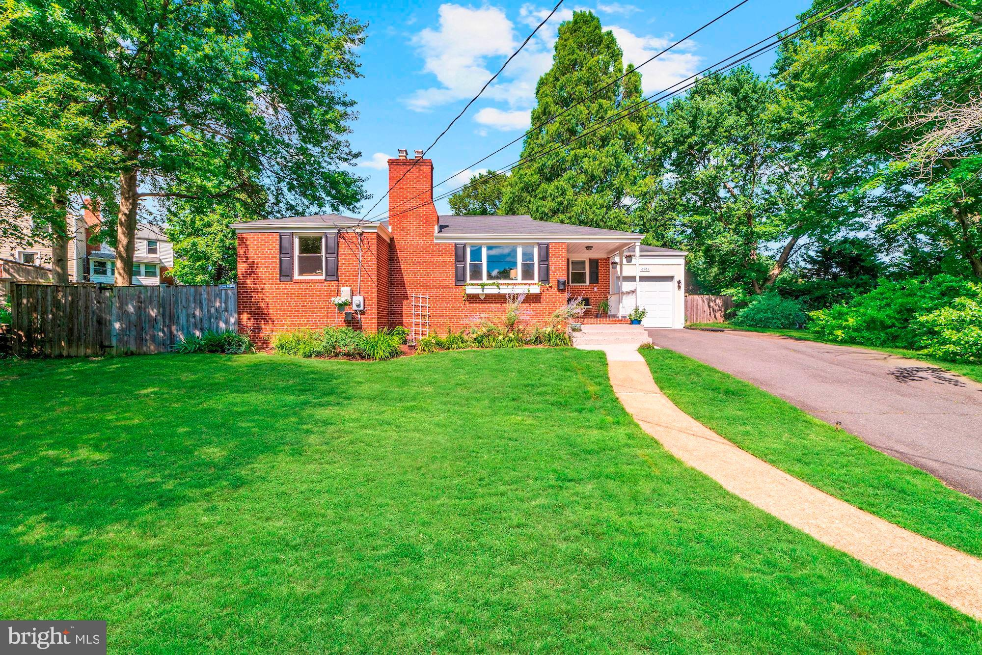 You'll love this Wilton Woods hidden gem in a quiet cul-de-sac! Under 1 mile walking distance to Huntington Metro, shops, and many conveniences. Quick and easy access to the beltway, Carlyle District, and Old Town Alexandria. Spacious throughout, with 2,300 finished square feet, 5 bedrooms (2 lower level rooms are considered dens), and 3 full bathrooms. Main level includes lovely hard wood floors, inviting living room with cozy wood burning fireplace, delightful dining room, and bright kitchen with granite countertops and stainless steel appliances with gas stove. Fully finished lower level has ample sized family room/recreation room with custom tile floor, perfect nanny or in law suite with separate entrance. Newer windows and roof. Rare attached garage in this neighborhood with extra driveway parking. Expansive, peaceful, and fully fenced back yard with patio, barzebo, storage shed, flower and vegetable beds. Edison HS pyramid. Close to everything! Transferable home warranty.