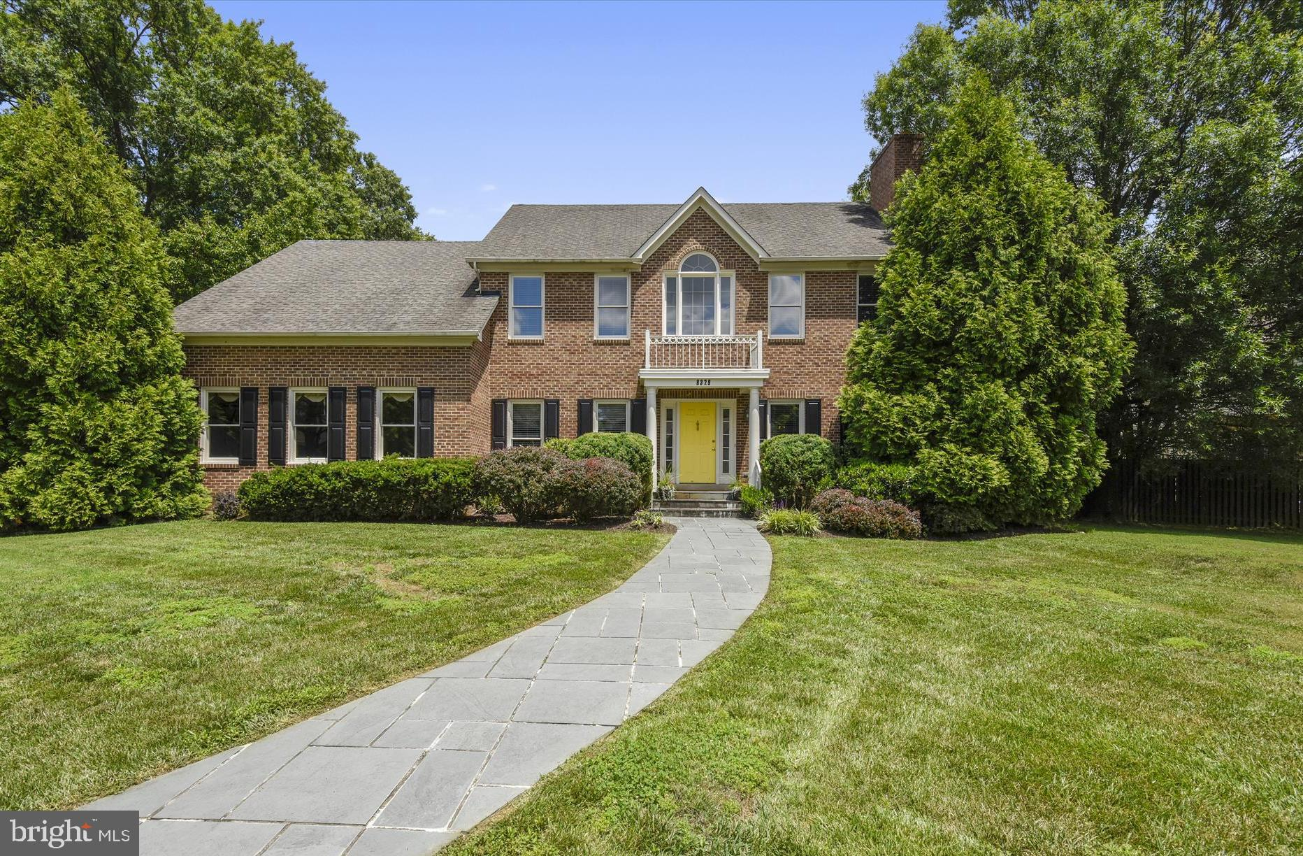 PRICE IMPROVEMENT - Located in the sought after community of Fort Hunt, 8329 Woodacre Street, Alexandria, VA 22308 was built for entertaining.  You are greeted by the welcoming two-story foyer which features a beautiful curved staircase.  The main floor features a den/study, powder room, hardwood floors, living room with wood burning fireplace, and formal dining room.  The family room, kitchen, and eating area offers a large open floor plan with cathedral ceilings and another wood burning fireplace located in the family room.  You have easy access to the pool and patio areas; perfect for enjoying the summer and entertaining.  Laundry is conveniently located off the kitchen, making it easy to multi-task.  Upstairs greets you with a large master suite which includes a sitting area, walk-in closet, whirlpool tub, and separate shower.  Three additional bedrooms and one full bath complete this level. New carpet throughout this level.  The fully finished basement, with new carpet, lends itself perfectly for a pool table or movie night.  Two other large rooms are ideal for a craft room or media room.  Each includes a good sized closet.  A full bath and utility room round out this area.  The oversized garage provides plenty of storage for tools and pool equipment.  The central location makes commuting to work easy in all directions.  Take the GW Parkway to Old Town, DC and points north, or head south to Fort Belvoir, Lorton, and Quantico.  Closest Metro stations are Huntington and Franconia/Springfield.  Price reflects condition.