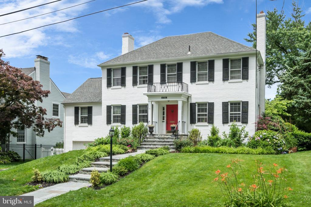 Located in the coveted Spring Valley neighborhood, this classic center-hall colonial is situated on a flat 7000+ square foot lot on a quiet street. Features include 4 bedrooms, 4.5 bathrooms and 3,190 square feet of elegant living space. The main level is bright with a large living room boasting a gas fire place and French doors with access to a spacious deck overlooking the private backyard oasis.  A formal dining room, separate office/den with access to the deck and a powder room create an ideal floor plan with hardwood floors throughout. The finished lower level offers abundant storage space, a recreation room with gas fireplace and a craft/project room with a built-in desk, laundry, one-car garage and an updated full bathroom.  Updates include Sub Zero and Bosch appliances, updated bathrooms, a new roof in 2016, new front steps with updated landscaping and dual zone HVAC.