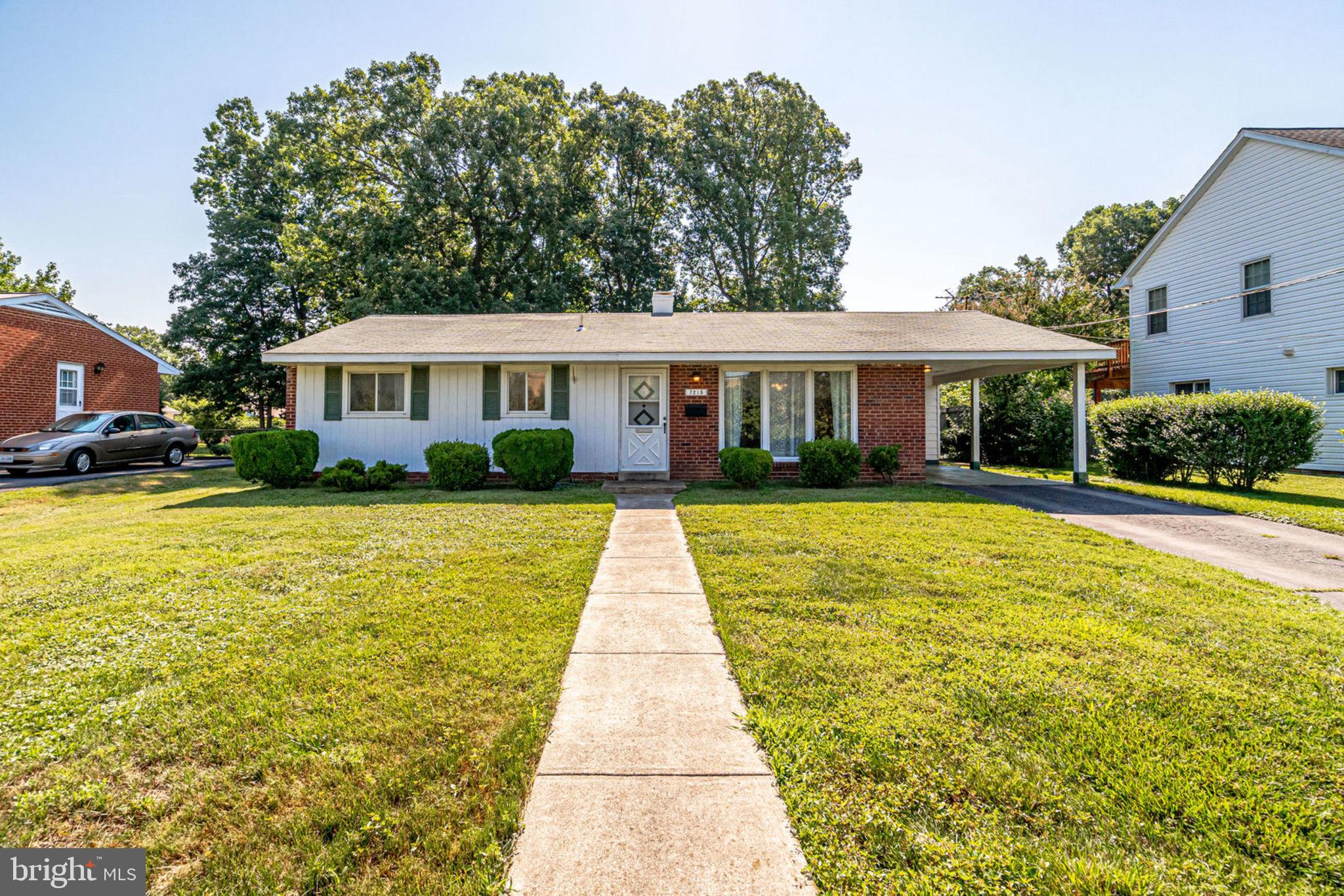 Terrific opportunity to own a one level brick rambler with family room addition, bonus room and screened-in porch. Great potential to expand or renovate. This home is an estate and is being sold as-is, but needs only cosmetic updates. Most systems have been replaced in the last few years including HVAC, hot water heater and windows. Roof inspected in 2018 and given clean bill of health. Great, flat backyard, storage shed, carport. Minutes to I95, I495, restaurants, Springfield town center and Metro.
