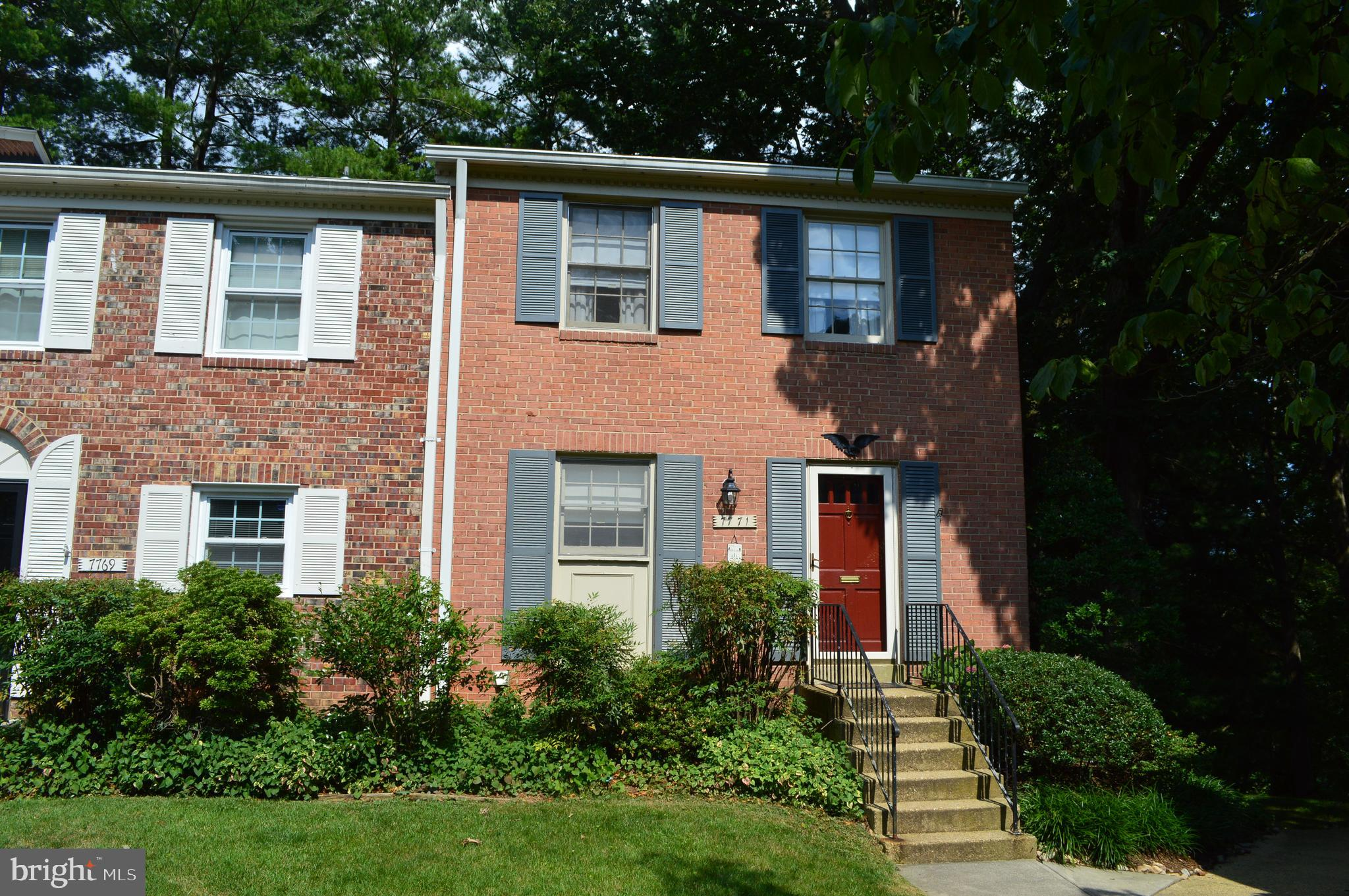 Classic almost all brick, 3-bedroom, 3 full bath end unit townhouse. Table space kitchen with large pantry closet. All 3 baths updated including the beautiful master with glass tile inlay. Spacious room sizes and generous closet space. Pull down-stairs to partially floored attic for extra storage. Walk-out lower level featuring French doors leading to the brick patio with gardener~s shed and privacy fence. Condo fee includes gas heat, water, sewer, trash and snow removal, community pool (everything but electric) and lots more including exterior maintenance (roof & fence replacement, painting, maintenance of common grounds). One assigned parking space plus 2 additional parking passes. Great bones, but sold ~As Is~. Newer HVAC & water heater. Wonderful, small community in super, close-in location. Close to every major commuter route and minutes from the Franconia/Springfield blue line Metro as well as the Burke or Springfield Virginia Railway Express. An abundance of shopping choices including the Springfield Town Center, Whole Foods, Trader Joe~s, etc.. All in the top-rated Keene Mill ES, Irving MS and West Springfield HS pyramid (Elementary and High Schools have just completed renovations).