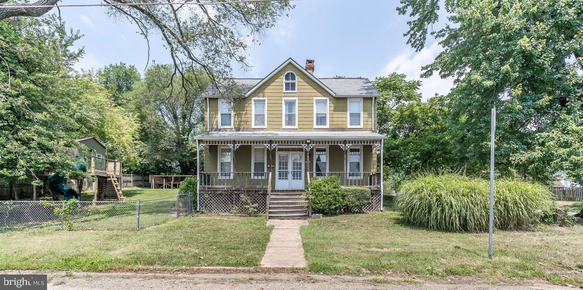 Very Cool 1915 Victorian with 1996 Addition that includes a Huge Kitchen & 2nd Floor Master Bed/Bath.  Addition has CAC.  The Main Level has Bedroom & Full Bath, living Rm, Dining Rm, Kitchen & mud Room.  Three Bedrooms & 2 Baths Upstairs, plus Laundry Room and Study! Extra large lot, Garage, Playhouse & Hot Tub included. House is livable, but needs work.  No FHA or Va contracts