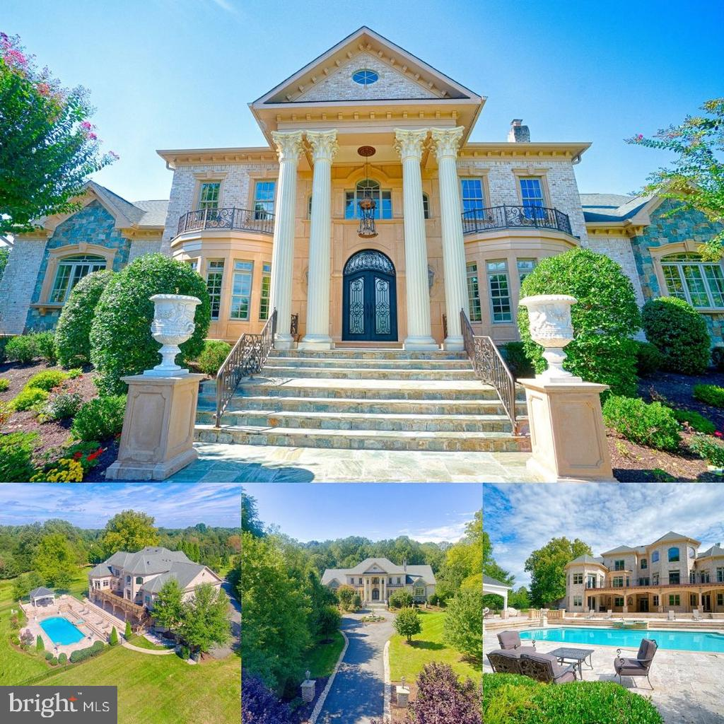 Gorgeous custom estate with all Brick & precast exterior only provides glimpse of interior elegance. Dramatic 2 story foyer shows of exquisite detail of plaster moldings through-out all levels. The main level offers master suite, private study, breakfast rm. Lower level boasts media, wine, billiards, pool changing room, exercise rm & 2nd suite, covered patio overlooking pool & spa!