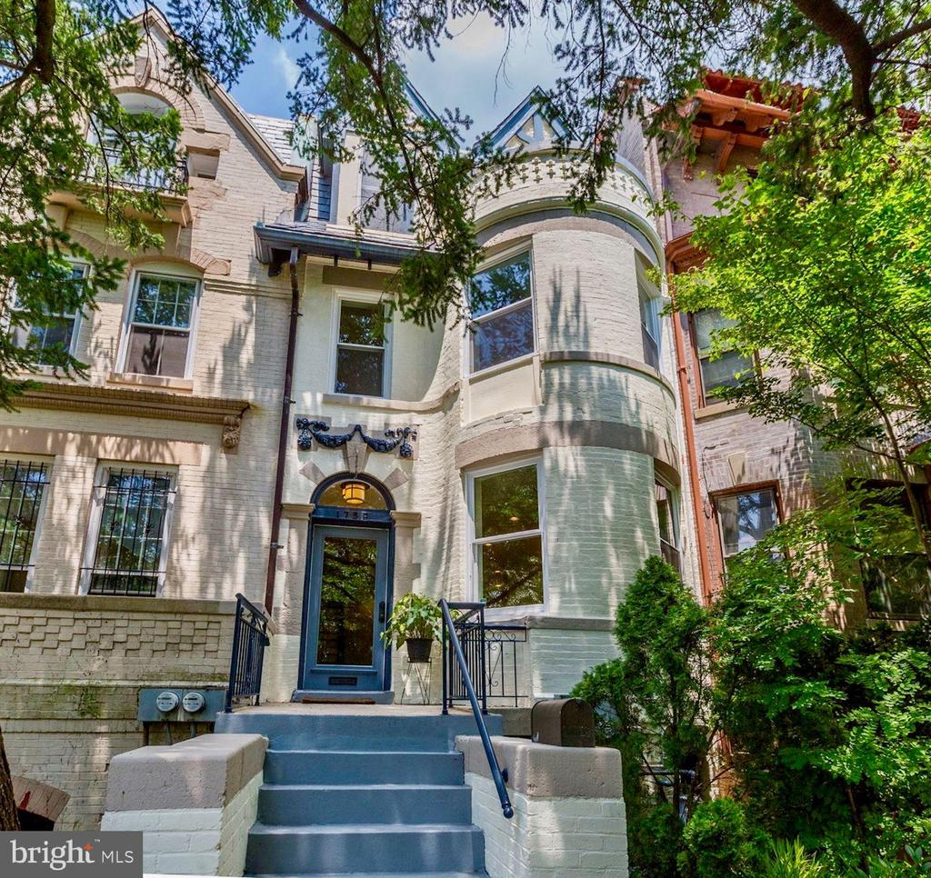 This quintessential Bay Front Victorian is sited on one of Mount Pleasants most iconic and coveted blocks, a bucolic promenade meandering through a dense tree canopy past lovingly landscaped gardens. Built in 1901, the craftsmanship of the era is incomparable: featuring masonry facades, arched doorways and transoms, coffered ceilings, ornate fireplace mantels and gleaming hardwood floors.  The open-concept Living/Family area provides many options for todays modern living, while the formal Dining Room and renovated Chef~s Kitchen harken back to the original floor plan and gracious entertaining. A charming back staircase remains intact for a convenient entrance to the 2nd floor, and a powder room has been added on the main level for ultimate convenience.  There is a multi-tiered rear deck, a virtual urban oasis nestled smartly above the garage featuring ample space for parties and stockade fencing for privacy. The current owners completed the needed renovations to make the lower level a spacious and legal 1 Bedroom/1 Bathroom unit with front and rear entrances, and recently added a solar array for which the future owners will benefit for years to come.  This coveted location is only a stroll to myriad neighborhood shopping and restaurant venues, Metro and all the beauty of Rock Creek Park and Zoo, truly the perfect choice for today~s most discriminating Buyer.