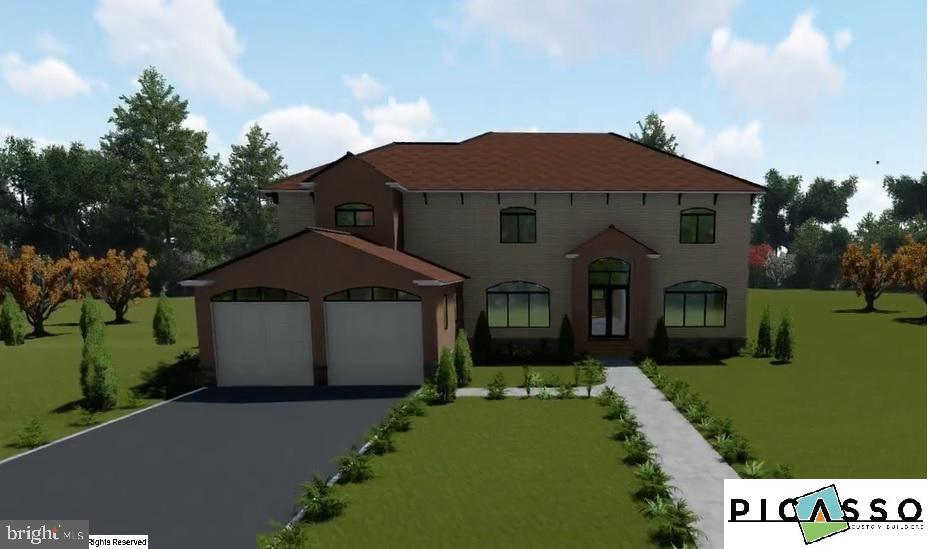 TO BE BUILT NEW CUSTOM HOME DESIGN by Picasso Custom Builders.  Contract for the Lot, Secure a Construction Loan and build your Dream Home.  Great Value on a beautiful Lot surrounded by woods.