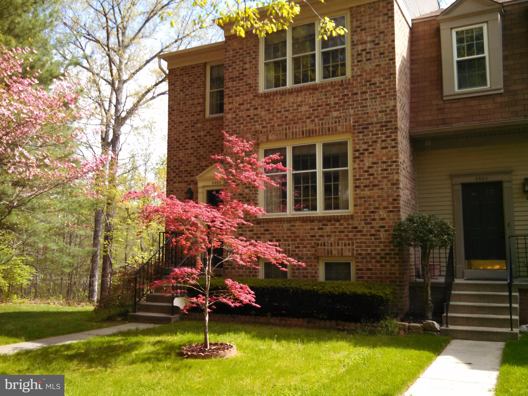 Gorgeous End Unit Townhouse, 4BR, 3.5BA, Renovated Kitchen, New Appliances, Stove/Dishwasher/Microwave, New SS Refrigerator, Freshly Painted, Front & Side Bricks, New Hardwood Floors on Main Level, New Granite Counter Tops, New Recessed Lights & Light Fixtures, Large Double Decks, Fenced in Backyard, Beautiful Views Outside, Walking Tracks, Popular Community and Convenient Location, Near I-95, 495, 395, Shopping Center & Mall, and Much More, Must See It!.  If visiting the property with children,  please guide them not to play in the house.